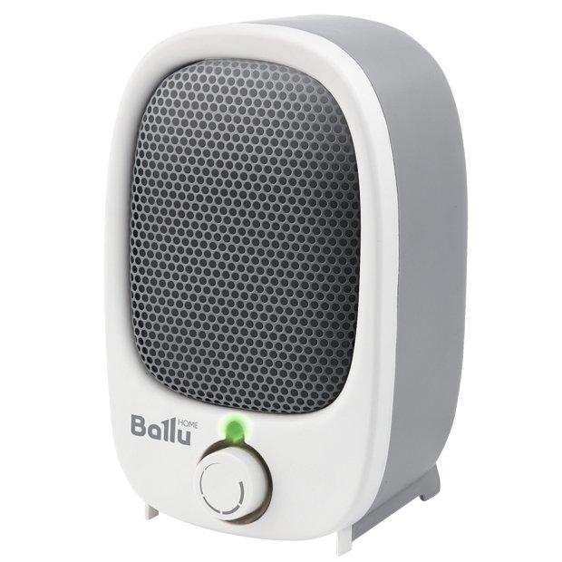 Керамический тепловентилятор Ballu BFH/S-03NБытовые<br>Тепловентилятор Ballu (Баллу) BFH/S-03N отличается современным эргономичным дизайном, простым управлением и высокой скоростью обогрева. Такое устройство прекрасно подходит для применения в самых разных помещениях, где важно организовать комфортные температурные условия в холодное время года. Тепловентилятор выполнен из прочных и долговечных материалов.<br>Особенности и преимущества:<br><br>Супер-компактный дизайн<br>Ступени мощности: 900 Вт<br>Быстрый обогрев<br>Спиральный нагревательный элемент<br>Защита от перегрева<br>Защита при опрокидывании<br><br>Тепловентиляторы Ballu отличаются качественным и современным исполнением, идеально подходят для использования в качестве временного источника тепла на даче, в жилых и офисных помещениях или на складе. Передовое управление обеспечивает надежность тепловых вентиляторов, а также удобство их использования. Все модели имеют высокий уровень энергоэффективности. <br><br>Страна: Китай<br>Мощность, кВт: 0,9<br>Площадь, м?: 9<br>Тип нагревательного элемента: Спираль<br>Тип регулятора: Механический<br>Защита от перегрева: Есть<br>Отключение при опрокидывании: Есть<br>Ионизатор: Нет<br>Дисплей: Нет<br>Пульт: Нет<br>Габариты, мм: None<br>Вес, кг: 1<br>Гарантия: 2 года