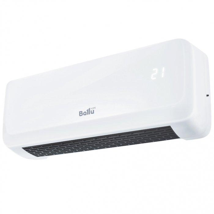 Керамический тепловентилятор Ballu BFH/W-201LБытовые<br>Ballu (Баллу) BFH/W-201L   это передовой настенный тепловой вентилятор с современной системой управления и широким функционалом, предназначенный для использования в помещениях, нуждающихся в качественном и быстром обогреве. Представленная модель отличается эргономичным и стильным внешним исполнением, а также поставляется по привлекательной цене.<br>Особенности и преимущества:<br><br>Ступени мощности: 2000/1000 Вт<br>Быстрый обогрев<br>Температура обогрева: 18-45 С<br>Автоматическое поддержание температуры<br>Керамический нагревательный элемент<br>Таймер отключения до 8ч<br>Защита от перегрева<br><br>Тепловентиляторы Ballu отличаются качественным и современным исполнением, идеально подходят для использования в качестве временного источника тепла на даче, в жилых и офисных помещениях или на складе. Передовое управление обеспечивает надежность тепловых вентиляторов, а также удобство их использования. Все модели имеют высокий уровень энергоэффективности. <br><br>Страна: Китай<br>Мощность, кВт: 2,0<br>Площадь, м?: 25<br>Тип нагревательного элемента: Керамический<br>Тип регулятора: Электронный<br>Защита от перегрева: Есть<br>Отключение при опрокидывании: Нет<br>Ионизатор: Нет<br>Дисплей: Нет<br>Пульт: Есть<br>Габариты, мм: 450x195x130<br>Вес, кг: 2<br>Гарантия: 2 года<br>Ширина мм: 195<br>Высота мм: 450<br>Глубина мм: 130