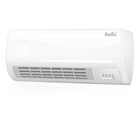 Керамический тепловентилятор Ballu BFH/W - 102WБытовые<br>Тепловентилятор Ballu BFH/W-102W отличается широкими функциональными возможностями. Устройство оснащено таймером, который можно запрограммировать на 7,5 часов вперед. Для управления агрегатом предусмотрен беспроводной пульт, благодаря чему вы сможете менять параметры работы, не вставая с места. Индикаторы работы тепловентилятора расскажут о текущих настройках. Серьезная защита от перегрева обеспечит безопасную эксплуатацию.<br><br><br><br><br>Особенности и преимущества тепловентилятора Ballu:<br><br>Кнопочная панель на корпусе прибора позволяет управлять всеми функциями с максимальным комфортом.<br>Настенная установка дает возможность более рационально использовать пространство в помещении.<br>Таймер отключения прибора до 7,5 часов.<br>LED-индикация режимов работы.<br>Здоровый микроклимат, не сжигает кислород.<br>Надежность и высокое качество.<br>Керамический нагревательный элемент мощностью 2 кВт<br>Панель управления на корпусе тепловентилятора<br>Датчик защиты от перегрева<br>Пульт дистанционного управления.<br>Три режима работы.<br><br> <br><br><br> <br><br><br>Режимы работы:<br><br>режим вентиляции без функции обогрева;<br>режим обогрева половинной мощности 1000 Вт;<br>режим обогрева полной мощности 2000 Вт.<br><br> <br><br><br><br><br><br>Компания Ballu разработала семейство тепловентиляторов бытового назначения. Это компактные, но производительные приборы, которые смогут качественного прогревать квартиры и дома, офисы и магазины, гостиницы и торговые павильоны. Модельный ряд достаточно разнообразен: он включается и тепловентиляторы с настенной установкой, и напольные устройства; разные цветовые гаммы и формы; различные мощностные режимы и функциональное наполнение.<br><br>Страна: Китай<br>Мощность, кВт: 2,0<br>Площадь, м?: 25<br>Тип нагревательного элемента: Керамический<br>Тип регулятора: Элеткронный<br>Защита от перегрева: Есть<br>Отключение при опрокидывании: Нет<br>Ионизатор: Нет<br>Дисплей: Да<br>П