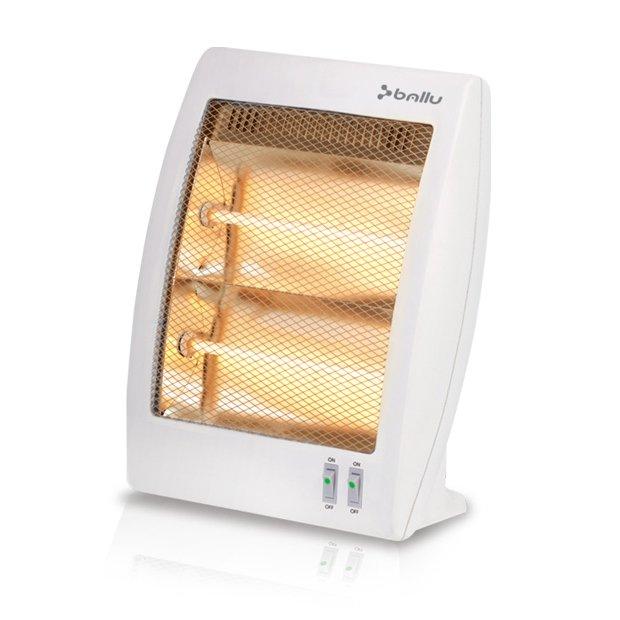 Галогеновый обогреватель Ballu BHH/M-09N0.8 кВт<br>Галогеновый обогреватель Ballu (Баллу) BHH/M-09N представляет собой современное и компактное бытовое устройство, используемое для организации комфортного теплого климата на небольшой территории. Корпус данной модели надежно защищен от попадания влаги, также в рассматриваемом устройстве установлена надежная система защиты, продлевающая срок его службы.<br>Особенности и преимущества галогеновых обогревателей Ballu серии BHH/M HALOGEN:<br><br>Управление прибором осуществляется при помощи блока управления, который включает в себя две кнопки с полной и половинной мощностью.<br>Обогреватель мгновенно выходит на рабочую температуру.<br>За счет технологии О2 SAFETY FYSTEM, он не сжигает кислород и не сушит воздух.<br>За счет отсутствия конвекции во время работы обогревателя, в воздух не поднимается микроскопическая пыль, которая может стать причиной многих заболеваний дыхательных путей.<br><br>Галогеновые обогреватели Ballu серии BHH/M HALOGEN идеально впишутся в любой современный интерьер и помогут быстро и эффективно прогреть воздух в небольшом помещении любого типа. Такие устройство отличаются небольшими размерами и удобной для транспортировки формой. Конструкция обогревателей сделала их полностью защищенными от случайного опрокидывания. <br><br>Страна: Китай<br>Производитель: Россия<br>Мощность, кВт: 0,9<br>Площадь, м?: 15<br>Класс защиты: IP20<br>Регулировка мощности: Да<br>Встроенный термостат: Нет<br>Тип установки: Напольная<br>Отключение при перегреве: Есть<br>Пульт: Нет<br>Габариты ШВГ, см: 30,5x37x13,6<br>Вес, кг: 1<br>Гарантия: 1 год<br>Ширина мм: 305<br>Высота мм: 370<br>Глубина мм: 136