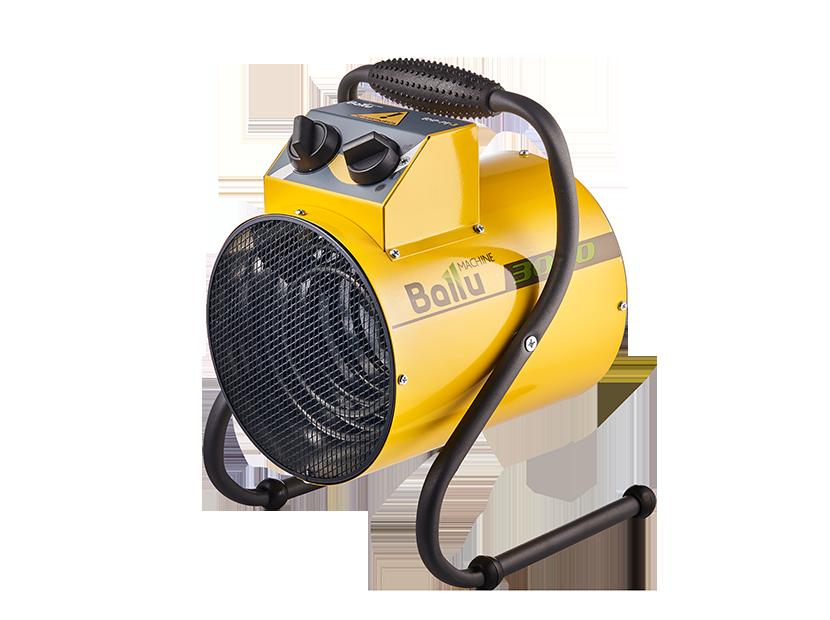 Тепловая пушка Ballu BHP-PE-55 кВт<br>Поворотный корпус электрической тепловой пушки Ballu (Баллу) BHP-PE-5 выполнен из прочной нержавеющей стали, так же, как и нагревательный элемент, и дополнительно имеет антикоррозионную обработку. Конструкция агрегата выполнена таким образом, что пушка обеспечивает направленный поток воздуха, температура которого на выходе (в режиме максимально мощности) составляет 60оС.<br>Особенности и преимущества электрических тепловых пушек Ballu серии PE:<br><br>Промышленный пылевлагозащищенный вентилятор, изготовленный с учетом особенностей российской эксплуатации;<br>Внутренний тепловой экран, уменьшающий температуру корпуса;<br>Антивандальное износостойкое покрытие опор;<br>Удобная эргономичная ручка для переноса;<br>Встроенный термостат для защиты от перегрева;<br>Две ступени мощности и режим вентиляции без нагрева;<br>Широкий спектр применения;<br>Долгий срок службы;<br>Компактные размеры и небольшой вес.<br><br>Небольшие и легкие тепловентиляторы семейства PE от торговой марки Ballu обеспечивают направленный нагрев, быстро достигают нужной температуры и эффективно ее поддерживают. Выполнены агрегаты в уже традиционном корпусе круглой формы, для изготовления которого компания-производитель использовала первоклассную прочную нержавеющую сталь. Вес модель имеют возможность регулировать угол наклона и могут работать в трех режимах: без нагрева; половинная мощность; полная мощность. Ассортимент серии небольшой, представлен агрегатами мощностью 2,0 кВт, 3,0 кВт и 5,0 кВт, для помещений площадью до 50 квадратных метров. Все тепловые пушки Ballu в интернет-магазине mircli.ru имеют официальную гарантию и необходимые сертификаты. Приобретая у нас оборудование, вы можете быть уверены в его надежности.<br><br><br>Страна: Китай<br>Тип: Электрическая<br>Мощность, кВт: 5,0<br>Площадь, м?: 50<br>Скорость потока м/с: None<br>Расход топлива, кг/час: None<br>Расход воздуха, мsup3;/ч: 230<br>Нагревательный элемент: Трубчатый<br>Вместимость бака, л: None