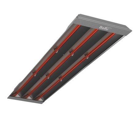 Инфракрасный обогреватель Ballu BIH-T-3.03 кВт<br>Инфракрасные обогреватели высокой мощности BIH-T-3.0 направленного обогрева от Ballu. Комфортное отопление, которое обеспечивает прибор лучистого отопления, расположенный на большой высоте   одно их достоинств обогревателя серии BIH-T. Для более точной регулировки температуры воздуха в обслуживаемой зоне инфракрасный обогреватель может подключатся к терморегулятору.<br> Особенности инфракрасных обогревателей серии  BIH-Т от Ballu:<br><br>Мощные высокоэффективные инфракрасные обогреватели;<br>Экономичность в использовании;<br>ТЭН из нержавеющей стали;<br>Возможность подключения к любому терморегулятору;<br>Корпус с элементами из нержавеющей стали;<br>Равномерный обогрев обслуживаемой зоны;<br>Возможна установка под углом;<br>Комфортное тепло, бесшумная работа;<br>Обогреватель показывает высокую эффективность даже при работе на открытых площадках, при наличии ветра и при отрицательных температурах;<br>Обогреватель не сжигает кислород, не создает циркуляцию пыли;<br>Возможность локальной установки (непосредственно над рабочей зоной);<br>Прибор можно использовать в помещениях с высокими потолками (до 10 м);<br>Благодаря потолочной установке прибор не занимает места в рабочей зоне;<br>Установка на потолке исключает возможность получения ожога;<br>У моделей мощностью до 2,0 кВт предусмотрена декоративная решетка;<br>Сфера применения   обогрев помещений различного назначения, использование в технологических процессах.<br><br>Устройство инфракрасного обогревателя серии BIH-Т схоже со многими другими отопительными приборами   это корпус и нагревательный элемент (в данном случае ТЭН из нержавеющей стали). Однако в отличие от классического электрического обогревателя прибор BIH-Т имеет несколько иной принцип действия, а именно   теплоотдача происходит посредством инфракрасного излучения. Это излучение проходит сквозь воздух и нагревает предметы и поверхности, находящиеся в его зоне действия, которые уже и нагревают воздух. Благ