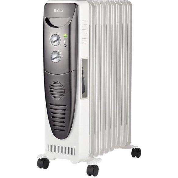 Масляный радиатор Ballu BOH/TB-09FH2.0 кВт<br>Модель Ballu (Баллу) BOH/TB-09FH представляет собой высокоэффективный масляный радиатор с современным дизайном и передовым функционалом. Рассматриваемое устройство надежно защищено от преждевременного износа и воздействия коррозии, не подвержено перегреву, а также не нуждается в обслуживании. Идеально подходит для обогрева жилых и офисных помещений. <br>Особенности и преимущества:<br><br>Стильный современный дизайн.<br>Высокоточный термостат нового поколения.<br>Встроенный керамический тепловентилятор.<br>Полная свобода перемещения.<br>Сверхудобная ручка для перемещения.<br>Три режима мощности.<br>Скрытая система хранения шнура.<br>Защитное антикоррозийное покрытие Protective Coating.<br>Независимое управление тепловентилятором.<br>Мгновенный турбо обогрев.<br><br>Масляные радиаторы Ballu серии Turbo (2017)   это элегантный современный дизайн, высокое качество исполнения и доступная цена. Модели представленной серии отличаются поистине изящным внешним видом, что позволит использовать их в помещениях с особым интерьером. Также усовершенствованная конструкция радиаторов отвечает за высокие показатели теплоотдачи.  <br><br>Страна: Китай<br>Мощность, Вт: 2000 + 400<br>Площадь, м?: 27<br>Колво секций: 9<br>Напряжение, В: 220 В<br>Вес, кг: 10<br>Гарантия: 2 года