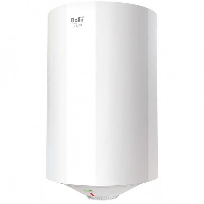 Водонагреватель Ballu BWH/S 50 TRUST50 литров<br>Ballu (Баллу) BWH/S 50 TRUST &amp;ndash; это мощный и экономичный бытовой бойлер с ультрасовременным исполнением и качественным функциональным оснащением. Данный агрегат позволит всегда иметь возможность быстро получить качественную горячую воду для различных нужд. Использование особопрочных материалом позволило обеспечить повышенный уровень устойчивости к внешним воздействиям.<br>Особенности и преимущества накопительных водонагревателей Ballu серии TRUST:<br><br>Обеззараживание воды, защита от накипи, повышенный ресурс нагревательного элемента и оптимальная температура нагрева.<br>Регулировка диапазона нагрева воды от 30 &amp;deg;С до 75 &amp;deg;С.<br>Мощный медный ТЭН с повышенным ресурсом работы.<br>Магниевый анод эффективно защищает внутренний бак от образования очагов коррозии.<br>Приборы соответствуют международному классу защиты от проникновения пыли и влаги.<br><br>Новые водонагреватели из серии TRUST были представлены мировому рынку в сезоне 2017 года. Компания Ballu отлично поработала над этими приборами, снабдив их нужным функционалом, прекрасной защитной системой и отличным дизайном. Водонагреватели выполнены в традиционном круглом корпусе, их внутренний резервуар эмалирован, а медный греющий элемент имеет &amp;laquo;сухое&amp;raquo; исполнение.<br><br>Страна: Китай<br>Производитель: Китай<br>Способ нагрева: Электрический<br>Нагревательный элемент: Медный<br>Объем, л: 50<br>Темп. нагрева, С: 75<br>Мощность, кВт: 1,5<br>Напряжение сети, В: 220 В<br>Плоский бак: Нет<br>Узкий бак Slim: Нет<br>Магниевый анод: Да<br>Колво ТЭНов: 1<br>Дисплей: Нет<br>Сухой ТЭН: Нет<br>Защита от перегрева: Да<br>Покрытие бака: Эмаль<br>Тип установки: Вертикальная<br>Подводка: Нижняя<br>Управление: Механическое<br>Размеры ШхВхГ, см: 38x71.5x38<br>Вес, кг: 18<br>Гарантия: 5 лет<br>Ширина мм: 380<br>Высота мм: 715<br>Глубина мм: 380