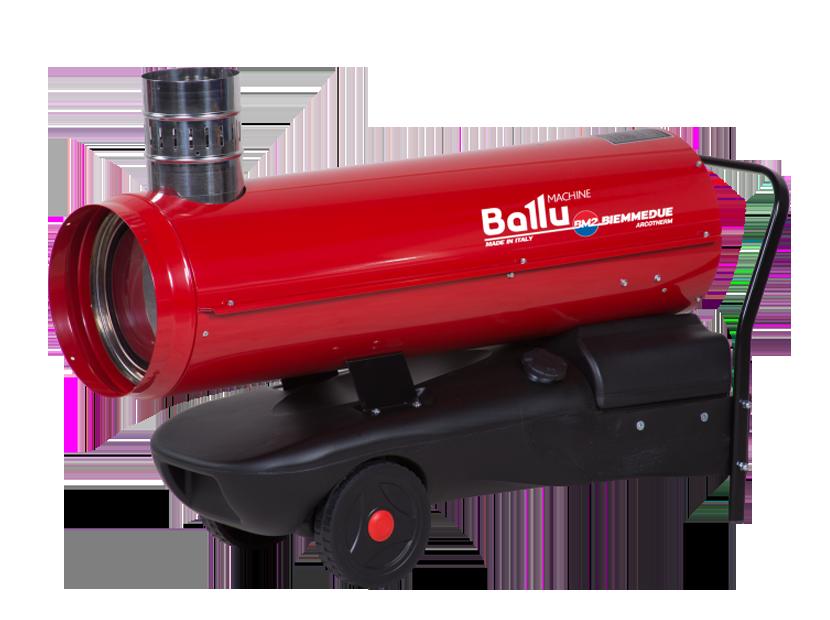 Тепловая пушка Ballu-Biemmedue EC 22Дизельные пушки<br>Тепловое оборудование серии EC от компании Ballu Biemmedue   профессиональные тепловые пушки, способные обогреть помещения площадью до 240 кв.м. Теплогенератор ЕС 22   оборудование непрямого нагрева для работы на дизельном топливе. Благодаря совершенной камере сгорания, разработанной компанией Biemmedue, оборудование имеет высокий показатель КПД   почти 90%.<br>Основные характеристики товара:<br><br>Максимальная мощность обогрева 23,4 кВт<br>Большая обогреваемая площадь (до 240 м. кв.)<br>Непрямой нагрев (тепловентилятор имеет специальный патрубок для дымохода)<br>Работа на жидком топливе<br>Высокий КПД   89,5%<br>Электронная система стабилизации пламени (фотоэлемент)<br>Камера сгорания изготовлена из нержавеющей стали толщиной 1,2 мм с повышенным КПД и 3х ходовым теплообменником<br>Предусмотрено автоматическое охлаждение камеры сгорания<br>Наличие предохранительного термостата<br>Блок управления с функцией самодиагностики   оригинальная разработка компании<br>Возможность подключения гигростата, термостата и таймера предусмотрен специальный разъем<br>Насосная подача топлива, топливные шланги в текстильной оплётке;<br>Бак для топлива изготовлен из полиэтилена низкого давления<br>Топливный бак с навинчивающейся крышкой и удобным сливом топлива из бака<br>Мобильность - в комплекте тележка с колесами.<br><br>Теплогенераторы серии ЕС от Ballu-Biemmedue оснащены теплообменником из алюминиевой стали с тепловым КПД около 90 %. Данное оборудование широко используется на складах, в сельском хозяйстве, животноводстве,  строительстве, промышленности, применяется для сушки, оттаивания и отопления.<br>Дизельные тепловые пушки являются отопительными приборами непрямого нагрева и при использовании в помещениях требуют подключения к дымоходу для отвода продуктов сгорания. Особенностью оборудования является совершенная камера сгорания собственной разработки компании Ballu-Biemmedue и блок управления с функцией самодиагностики. <b