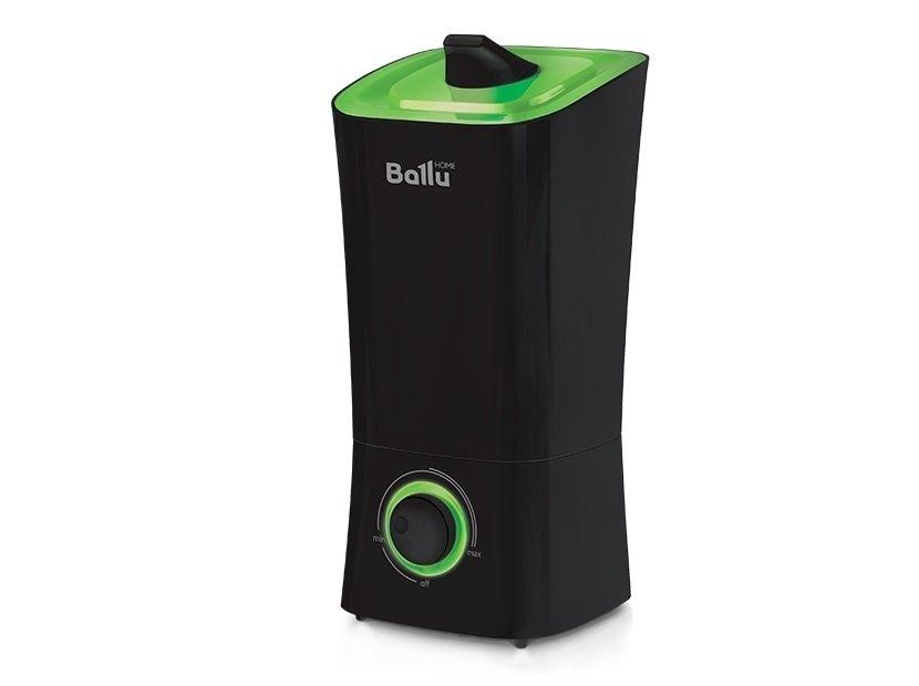 Увлажнитель воздуха Ballu UHB-200 черный/зеленыйУльтразвуковые<br>Ballu UHB-200   это увлажнитель воздуха, оборудованный встроенным гигрометром, гигростатом и термометром. Вращающийся на 360  распылитель позволяет направлять подачу влажного воздуха в нужную зону помещения. На передней панели корпуса прибора установлен информативный дисплей, на котором отображается уровень влажности и температура воздуха в помещении, а также заданные настройки работы увлажнителя.<br>Отличительные особенности увлажнителя воздуха Ballu UHB:<br><br>Высокая производительность по увлажнению<br>Вращающийся распылитель<br>Фильтр-картридж в комплекте<br>Индикация низкого уровня воды<br>Индикатор комнатной температуры и влажности<br>Отключаемый дисплей (ночной режим работы)<br>Встроенный гигрометр и гигростат<br>Таймер на отключение (до 8 часов)<br>Большая площадь обслуживаемого помещения<br>Большой резервуар для воды <br><br><br>Увлажнители воздуха Ballu (Баллу) UHB невероятно просты в эксплуатации и уходе   благодаря наличию специальной фильтрационной системы в них можно использовать обычную трубопроводную воду. Эти увлажнители оснащены мягкими резиновыми ножками, которые позволяют их надежно устанавливать на гладком полу или столе и не портить их поверхности при перемещении прибора.<br><br>Страна: Китай<br>Производитель: None<br>Площадь, м?: 40<br>Площадь по очистке, м?: None<br>Обьем бака, л: 3.6<br>Колво режимов работы: None<br>Расход воды, мл/ч: 350<br>Гигростат: Да<br>Гигрометр: Да<br>Питание, В: 12/220<br>Звуковое давление, дБа: 35<br>Мощность, Вт: 28<br>Габариты ВхШхГ, см: 16x34.8x16<br>Вес, кг: 1<br>Гарантия: 1 год<br>Ширина мм: 348<br>Высота мм: 160<br>Глубина мм: 160