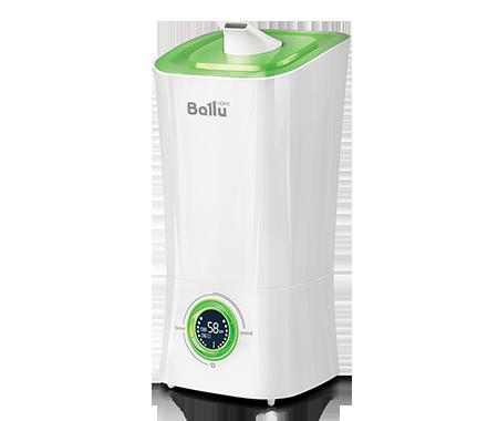 Увлажнитель воздуха Ballu UHB-205 белый/зеленыйУльтразвуковые<br><br>Ультразвуковой увлажнитель Ballu (Баллу) UHB-205 белый/зеленый имеет широкую сферу применения и используется для насыщения воздуха необходимым количеством влаги в индивидуальных домах и квартирах, отелях и офисах. Контролировать прибор помогают индикаторы влажности температуры и жидкокристаллический дисплей, с которого можно следить за функциями устройства.<br>Особенности и преимущества ультразвукового увлажнителя воздуха Ballu представленной модели:<br><br>Высокая производительность по увлажнению - до 350 г/час<br>Распылитель 360 <br>Фильтр-картридж в комплекте<br>Индикация низкого уровня воды<br>Индикатор комнатной температуры и влажности<br>Отключаемый дисплей (ночной режим работы)<br>Встроенный гигрометр и гигростат<br>Таймер на отключение (до 8 часов)<br>Размер комнаты: до 40 м <br>Резервуар для воды 3,6 литра<br>Для очистки воды от солей жесткости применяется фильтр-картридж Ballu FC   400.<br><br><br>Торговая марка Ballu постаралась объединить в своих увлажнителях воздуха самые востребованные покупателями функции. В результате получились надёжные технологичные приборы, с удобным управлением, эргономичным дизайном и высокой эффективностью работы. Модельный ряд увлажнителей воздуха Ballu с ультразвуковой мембраной представлен широким ассортиментом приборов самых разнообразных функциональных решений, цветов и форм. Здесь есть устройства с механическим и электронным управлением, с резервуарами разной вместительности, с фильтрами и без них, а также модели с функцией ароматизации. В интернет-магазине mircli.ru ультразвуковые увлажнители воздуха Ballu посетители сайта могут приобрести по привлекательной цене.<br><br>Страна: Китай<br>Производитель: Китай<br>Площадь, м?: 40<br>Площадь по очистке, м?: Нет<br>Обьем бака, л: 3,6<br>Колво режимов работы: 4<br>Расход воды, мл/ч: 350<br>Гигростат: Да<br>Гигрометр: Да<br>Питание, В: 220 В<br>Звуковое давление, дБа: 35<br>Мощность, Вт: 23<br>Габариты ВхШхГ, 