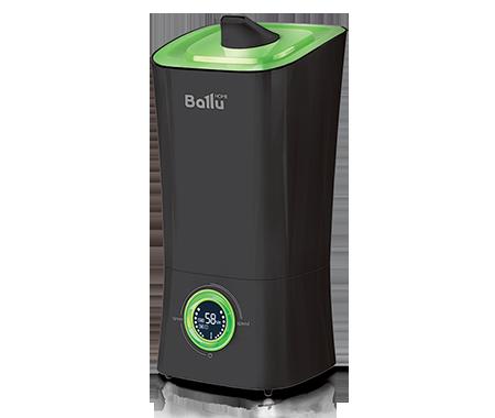 Увлажнитель воздуха Ballu UHB-205 черный/зеленыйУльтразвуковые<br>Стильное исполнение ультразвукового увлажнителя Ballu (Баллу) UHB-205 черный/зеленый позволяет поместить устройство в любую часть комнаты, и оно везде будет смотреться органично и интересно.  Регулирование работы прибора осуществляется довольно просто   с помощью логически понятной панели управления и жидкокристаллического дисплея с индикацией всех важных показателей.<br>Особенности и преимущества ультразвукового увлажнителя воздуха Ballu представленной модели:<br><br>Высокая производительность по увлажнению - до 350 г/час<br>Распылитель 360 <br>Фильтр-картридж в комплекте<br>Индикация низкого уровня воды<br>Индикатор комнатной температуры и влажности<br>Отключаемый дисплей (ночной режим работы)<br>Встроенный гигрометр и гигростат<br>Таймер на отключение (до 8 часов)<br>Размер комнаты: до 40 м <br>Резервуар для воды 3,6 литра<br>Для очистки воды от солей жесткости применяется фильтр-картридж Ballu FC   400.<br><br><br>Торговая марка Ballu постаралась объединить в своих увлажнителях воздуха самые востребованные покупателями функции. В результате получились надёжные технологичные приборы, с удобным управлением, эргономичным дизайном и высокой эффективностью работы. Модельный ряд увлажнителей воздуха Ballu с ультразвуковой мембраной представлен широким ассортиментом приборов самых разнообразных функциональных решений, цветов и форм. Здесь есть устройства с механическим и электронным управлением, с резервуарами разной вместительности, с фильтрами и без них, а также модели с функцией ароматизации. В интернет-магазине mircli.ru ультразвуковые увлажнители воздуха Ballu посетители сайта могут приобрести по привлекательной цене.<br><br>Страна: Китай<br>Производитель: Китай<br>Площадь, м?: 40<br>Площадь по очистке, м?: Нет<br>Обьем бака, л: 3,6<br>Колво режимов работы: 4<br>Расход воды, мл/ч: 350<br>Гигростат: Да<br>Гигрометр: Да<br>Питание, В: 220 В<br>Звуковое давление, дБа: 35<br>Мощность, Вт: 23<br>Габариты