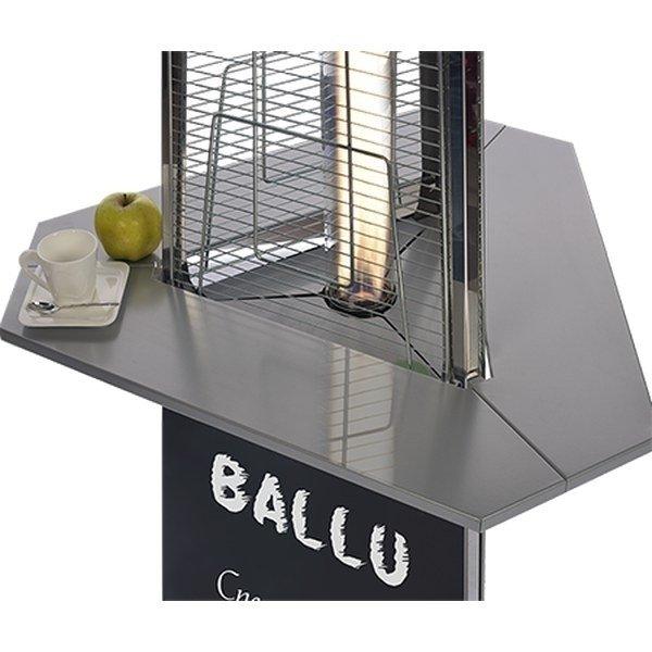 Газовый обогреватель Ballu Столик BOGH-T (полим. покрытие)Газовые уличные<br>Ballu (Баллу) Столик BOGH-T (полим. покрытие) изготовлен в том же дизайне, что и инфракрасные обогреватели от этого же производителя, поэтому не только сделает работу электроприбора более эффективной, но и значительно украсит конструкцию. Прибор прошел техническую проверку на заводе производителя, поэтому долговечен и надежен.<br>Аксессуары для уличных газовых инфракрасных обогревателей Ballu серий Flame, Glace значительно повысят эффективность работы и продлят срок службы электроприборов. Запасные части выполнены из высококачественных материалов, поэтому надежны и долговечны. Конструкции соответствуют стандартам качества и готовы к использованию сразу после покупки пользователем.<br><br>Страна: Китай<br>Производитель: Китай<br>Мощность, кВт: None<br>Max мощность, кВт: None<br>Min мощность, кВт: None<br>Диаметр обогрева, м: None<br>Потребление газа гр/час: None<br>Тип газа : None<br>Отражатель: None<br>Диаметр отражателя, см: None<br>Защита при опрокидывания: None<br>Защита при наклоне: None<br>Тип установки: Нет<br>Max t нагревательного элемента, С: None<br>Габариты ВхШхГ,мм: 905х125х780<br>Вес, кг: 5<br>Гарантия: 1 год<br>Ширина мм: 125<br>Высота мм: 905<br>Глубина мм: 780