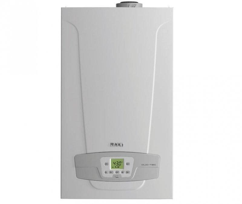 Настенный газовый котел Baxi30 кВт<br>Baxi (Бакси) LUNA DUO-TEC+ 33 GA   это простой в управлении, бесшумный и долговечный газовый котел, представленный в эстетичном передовом корпусе, компактные габариты которого обеспечивают максимальный комфорт при его установке и обслуживании. Надежная комплектация представленного устройства гарантирует безопасность для пользователей в течение всего периода эксплуатации.<br>Особенности и преимущества настенных газовых котлов Baxi серии LUNA Duo-tec+<br>- Газовая система<br><br>Система адаптивного контроля горения;<br>Коэффициент модуляции мощности   1:7;<br>Сохраняют номинальную мощность при падении входного давления газа до 5 мбар;<br>Непрерывная электронная модуляция пламени в режимах отопления и ГВС;<br>Пониженное содержание СО и NOx;<br>Горелка из нержавеющей стали AISI 316L с предварительным смешением газа и воздуха;<br>Возможна перенастройка для работы на сжиженном газе.<br><br> - Гидравлическая система<br><br>Энергосберегающий двухскоростной циркуляционный насос с электронным управлением и встроенным автоматическим воздухоотводчиком;<br>Первичный теплообменник из нержавеющей стали AISI 316L;<br>Вторичный пластинчатый теплообменник из нержавеющей стали (двухконтурные модели);<br>Автоматический байпас;<br>Постциркуляция насоса;<br>Фильтр на входе холодной воды;<br>Встроенный электрический трехходовой клапан (в том числе в одноконтурных моделях).<br><br>- Температурный контроль<br><br>Новая панель управления с широким дисплеем;<br>Два датчика температуры отопления на подаче и на обратке;<br>Самоадаптация погодозависимой автоматики;<br>Диапазон регулирования температуры в системе отопления 25 80 С;<br>Встроенная погодозависимая автоматика;<br>Регулирование и автоматическое поддержание заданной температуры в контурах отопления и ГВС;<br>Цифровая индикация температуры и давления;<br>Возможность управления разнотемпературными зональными системами.<br><br>- Устройства контроля и безопасности<br><br>Электронный манометр - срабатыв