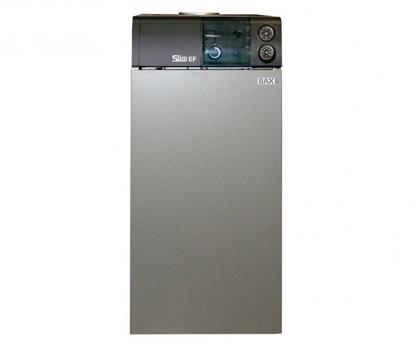 Котел Baxi SLIM EF 1.3130 кВт<br>Напольный газовый котел Baxi SLIM EF 1.31 оборудован атмосферной горелкой и чугунным теплообменником. Имеет удобное интуитивно понятное управление, отличается надежной системой безопасности. Прибор качественно исполнен, а его конструкция продумана до мельчайших деталей, благодаря чему он эффективен и долговечен. Большая функциональность сделает использование удобным.<br>Особенности напольных газовых котлов серии SLIM EF от компании Baxi:<br><br>Розжиг от запальной горелки;<br>Атмосферная горелка из нержавеющей стали;<br>Котлы адаптированы к российским условиям. Устойчиво работают при понижении входного давления природного газа до 5 мбар;<br>Возможна перенастройка для работы на сжиженном газе;<br>Чугунный первичный теплообменник;<br>Возможность работы с естественной и принудительной (насос) циркуляцией теплоносителя;<br>Манометр;<br>Регулирование и автоматическое поддержание заданной температуры в контуре отопления;<br>Возможность подключения комнатного термостата;<br>Термометр;<br>Контроль пламени при помощи термопары;<br>Защитный термостат от перегрева воды в первичном теплообменнике;<br>Датчик тяги для контроля за безопасным удалением продуктов сгорания (термостат);<br>Предохранительный клапан в контуре отопления (3 атм).<br>Возможность подключения бойлера косвенного нагрева.<br>Надежность и безопасность.<br><br>SLIM EF   это семейство напольных котлов от торговой марки Baxi, которые относятся к типу энергонезависимых отопительных приборов. Модельный ряд представлен несколькими агрегатами разной мощности, выполненными в едином стилевом решении. Отличительной особенностью семейства является защитная автоматика с термопарой, которая обеспечивает максимальную безопасность эксплуатации оборудования: перекрывает газовый клапан в случае затухания пламени. Данные котлы не нуждаются в подключении к электрической сети и работают в системах с естественной циркуляцией.<br><br>Страна: Италия<br>Производство: Италия<br>Тип котла: Энергонезависи