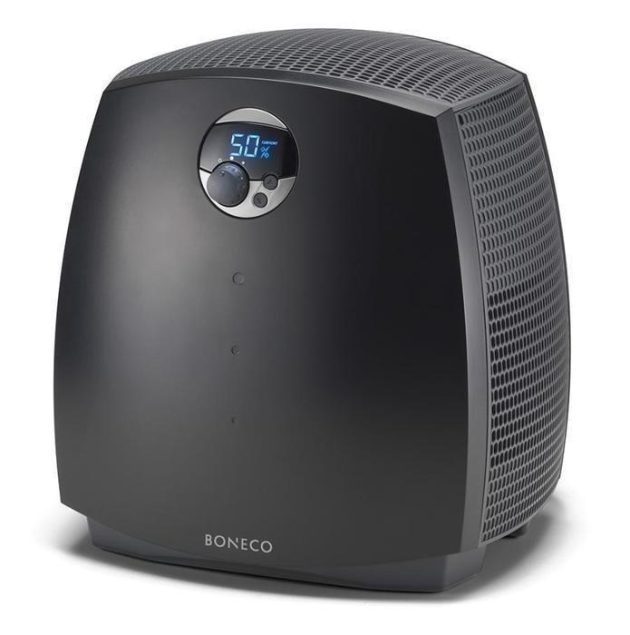 Мойка воздуха Boneco 2055DБытовые мойки<br>Трудно переоценить важность качества воздуха, которым мы дышим. Это залог крепкого здоровья, высокой работоспособности и хорошего настроения не только у нас и наших близких, но и у окружающих предметов.<br>Загрязненность воздуха   одна из наиболее серьезных причин вялости, частых недомоганий и постоянной усталости, не говоря уже о более серьезных нарушениях, у людей, постоянно вдыхающих пыль, вредные газы и прочие примеси, которыми богат воздух в промышленной зоне.<br>Немало неприятностей может принести также пересушенный воздух. Частые простуды, заболевания дыхательной системы, сухая кожа, аллергия, пересыхание слизистой оболочки и жжение в глазах   вот далеко не полный перечень неприятных ощущений, которые вы можете испытать из-за излишне сухого воздуха в помещении. Отметим, что и для мебели и паркета, изготовленных из натурального дерева, пересушенность является врагом номер один: находясь в условиях, где влажность постоянно колеблется или стабильно слишком низкая, деревянные изделия растрескиваются и разрушаются.<br>Для предотвращения всего этого и создаются приборы, дарящие нам свежий и чистый воздух в любое время года.<br>Техника Boneco создана швейцарскими специалистами для вашего комфорта и здоровья. Высокая квалификация специалистов, занимающихся разработкой и изготовлением приборов, традиционно превосходное швейцарское качество, простота в эксплуатации, экономичность   вот лишь некоторые причины, по которым стоит отдать предпочтение оборудованию Boneco.<br>Очиститель-увлажнитель воздуха Boneco 2055D   оптимальное решение для поддержания чистого и свежего воздуха в вашем помещении   будь то дом или офис.<br> <br>Характеристики Boneco 2055D:<br><br>Увлажнение и очистка воздуха<br>Уникальная технология естественного промывания воздуха<br>Функция предварительной ионизации воздуха<br>Новое поколение увлажняющих дисков<br>Ионизирующий серебряный стержень ISS<br>Система поддержания уровня воды в поддоне<br>Большой прозра