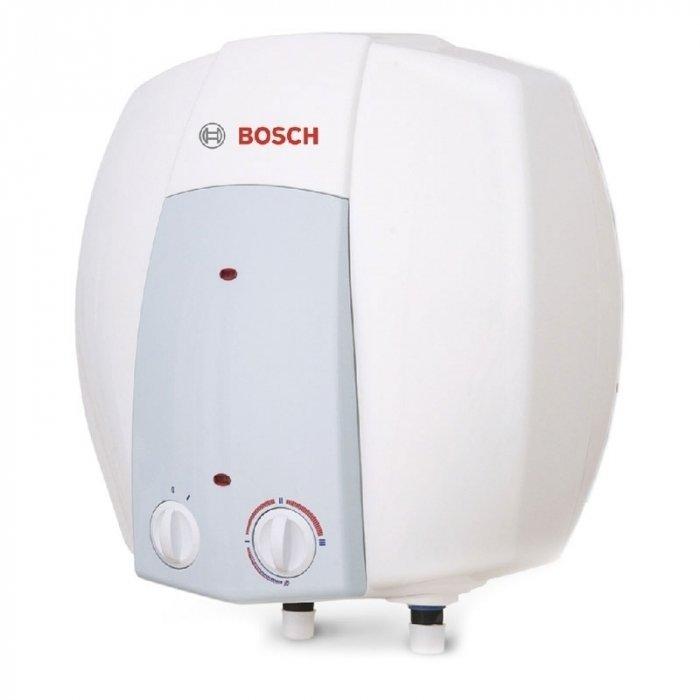 Электрический накопительный водонагреватель Bosch Tronic 2000T (mini) ES 015 5 1500W BO M1R-KNWVB15 литров<br>Современный электрический водонагреватель в вертикальном исполнении Bosch (Бош) Tronic 2000T (mini) ES 015 5 1500W BO M1R-KNWVB потребляет незначительное количество электроэнергии и может обеспечить бесперебойное приготовление воды комфортной температуры и ее хранение в баке объемом 15 литров. Внутреннее покрытие бака   стеклокерамика. Максимальный температурный показатель нагрева   +70 градусов.<br>Особенности и преимущества водонагревателей серии Bosch Tronic:<br><br>Новый дизайн, разработанный инженерами Bosch<br>Расширенный модельный ряд<br>Улучшенный пользовательский интерфейс<br>Новые литражи для моделей 2000T/6000T/8000T<br>Модели с  сухим  тэном  Tronic 6000 T/8000T<br>Модели Slim (d=36 см) для монтажа в ограниченном пространстве<br>Возможность вертикального/горизонтального монтажа (6000T/8000T)<br>Энергоэффективность согласно европейским нормам<br>Электрические накопительные водонагреватели Bosch Tronic Thermotechnology<br>Стеклокерамическое покрытие бака   обеспечивает полную безопасность и чистоту при приготовлении горячей воды<br>Различные типы регулирования (механическое и электронное)<br>Удобство подключения<br>Режим антизамерзания<br>Новая теплоизоляция (низкие теплопотери)  22/ 32 мм<br>Защита от сухого пуска<br>Гарантия на накопительный бак   5 лет<br><br>Предлагаем вниманию всех гостей нашего интернет-магазина огромное семейство накопительных водонагревателей   Bosch Tronic. Все модели серии осуществляют работу от сети электричества. Высокая энергоэффективность приборов отчасти достигнута благодаря наличию в конструкциях турбированной горелки. Кроме того, такое решение позволяет осуществлять забор отработанных газов принудительно. Все водонагреватели серии оборудованы системой антизамерзания и качественной системой управления   в зависимости от модели   механической или электронной.   <br><br>Страна: Германия<br>Производитель: Болгария<br>С