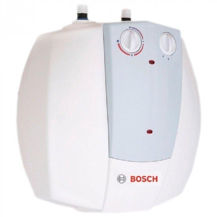Электрический накопительный водонагреватель Bosch Tronic 2000T (mini) ES 015 5 1500W BO M1R-KNWVT15 литров<br>Если вам необходимо организовать приготовление горячей воды и ее хранение для дальнейшего использования на различные мелкие хозяйственные или личные нужды, то идеальным решением для вашей квартиры или индивидуального дома будет привлекательный и эффективный компактный накопительный водонагреватель Bosch (Бош) Tronic 2000T (mini) ES 015 5 1500W BO M1R-KNWVT, бак которого рассчитан на 15 литров.<br>Особенности и преимущества водонагревателей серии Bosch Tronic:<br><br>Новый дизайн, разработанный инженерами Bosch<br>Расширенный модельный ряд<br>Улучшенный пользовательский интерфейс<br>Новые литражи для моделей 2000T/6000T/8000T<br>Модели с  сухим  тэном  Tronic 6000 T/8000T<br>Модели Slim (d=36 см) для монтажа в ограниченном пространстве<br>Возможность вертикального/горизонтального монтажа (6000T/8000T)<br>Энергоэффективность согласно европейским нормам<br>Электрические накопительные водонагреватели Bosch Tronic Thermotechnology<br>Стеклокерамическое покрытие бака   обеспечивает полную безопасность и чистоту при приготовлении горячей воды<br>Различные типы регулирования (механическое и электронное)<br>Удобство подключения<br>Режим антизамерзания<br>Новая теплоизоляция (низкие теплопотери)  22/ 32 мм<br>Защита от сухого пуска<br>Гарантия на накопительный бак   5 лет<br><br>Предлагаем вниманию всех гостей нашего интернет-магазина огромное семейство накопительных водонагревателей   Bosch Tronic. Все модели серии осуществляют работу от сети электричества. Высокая энергоэффективность приборов отчасти достигнута благодаря наличию в конструкциях турбированной горелки. Кроме того, такое решение позволяет осуществлять забор отработанных газов принудительно. Все водонагреватели серии оборудованы системой антизамерзания и качественной системой управления   в зависимости от модели   механической или электронной.  <br><br>Страна: Германия<br>Производитель: Болгария<br>Спосо