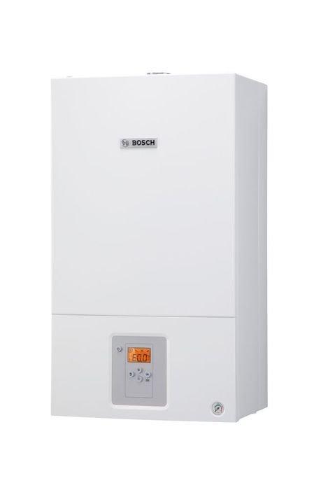 Котел Bosch WBN6000-12C RN S570012 кВт<br> Bosch (Бош) WBN6000-12C RN S5700    это современный отопительный агрегат с настенной установкой, осуществляющий работу на газовом топливе. Модель предназначена для работы на два контура   отопление и горячее водоснабжение. Конструкция оснащена эффективным вентилятором, что позволяет подключать дымомыводящую конструкцию сбоку. Для управления работой котла предусмотрена простая и понятная панель с дисплеем, расположенная на корпусе агрегата.<br>Особенности серии газовых настенных котлов от популярного производителя Bosch:<br><br>Полноценно функционирует при напряжении 165-255 В<br>Работает без дополнительных настроек и регулировки при давлении газа 9-35 мБар<br>Новый компактный и высокоэффективный теплообменник<br>Теплообменник ГВС прост в обслуживании и уходе<br>Модулируемый вентилятор<br>Новый гидроблок<br>Функциональный и удобный ЖК-дисплей<br>Возможность программирования работы прибора на неделю<br>Обновленный пользовательский интерфейс<br>Функция подачи сигнала о неисправности<br>Широкие возможности настройки оборудования под работу в составе индивидуальной отопительной системы<br>Трехходовой клапан с автоматическим байпасом<br>Простота в управлении и обслуживании<br>Наличие датчика и ограничителя потока<br>Фильтр грубой очистки<br>Наличие датчика Холла<br>Специальная транспортировочная упаковка<br>Компактные размеры<br>Привлекательный и эргономичный дизайн<br><br>Газовые настенные котлы серии Bosch WBN представляют собой современное высокотехнологичное оборудование, отличающееся высокими показателями надежности, комфортности в эксплуатации и уходе, удачным сочетанием экономичности потребления энергоносителей и высокой тепловой производительности. <br><br>Страна: Германия<br>Производство: Россия<br>Тип котла: Энергозависимые<br>Режим работы: Отопление/ГВС<br>Камера сгорания: Закрытая<br>Горелка: Вентиляторная<br>Max мощность, кВт: 12.0<br>Min мощность, кВт: 5.4<br>Max давление отопит контура , Атм: 3.0<br>Min давление от