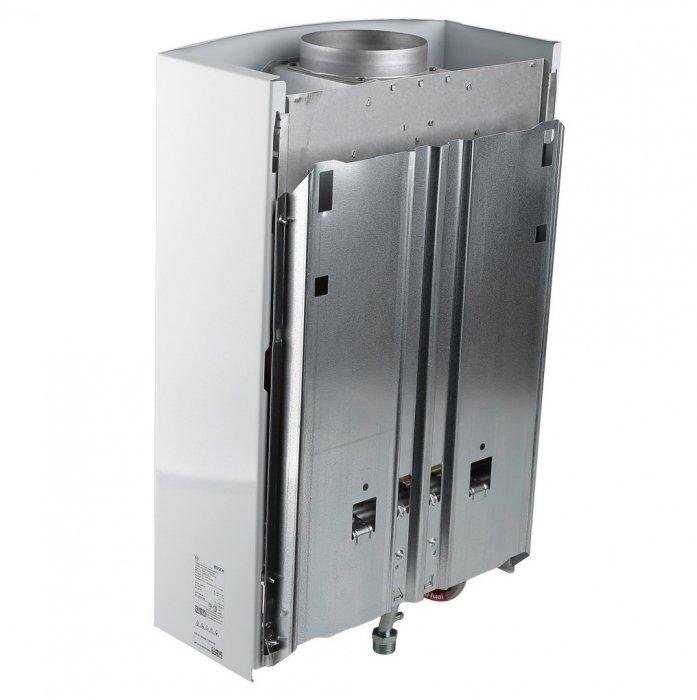 Водонагреватель Bosch WR10-2 B2316-21 кВт<br><br>Газовый проточный водонагреватель Bosch WR10-2 B23 является газовым водонагревателем отлично подходящим для нагрева воды, необходимой для бытовых нужд. Система Anti Overflow предназначена для&amp;nbsp; обеспечения вывода продуктов от сгорания через дымоход. Реализована возможность автоматического поддержания необходимой температуры воды в случае изменения уровня давления воды в водопроводе. Представленная модель водонагревателя Bosch отличается не только компактностью и отличным дизайном, а также высококлассными техническими характеристиками, способными подарить комфорт и безопасность с первой минуты своей работы.<br>&amp;nbsp;<br>Основные особенности модели:<br><br>вертикальная установка;<br>работа при низком давлении;<br>автоматическая регулировка температуры;<br>модуляция мощности оборудования;<br>непрерывно горящий запальник;<br>полноценно функционирует при давлении воды в 0,1 атм;<br>непрерывная работа оборудования;<br>защита от перегрева;<br>датчик контроля газа;<br>изготавливается из нержавеющей стали;<br>теплообменник из меди;<br>высокая производительность;<br>технология hydropower &amp;ndash; автоматический розжиг от встроенного гидрогеренатора;<br>модели производительностью от 10 до 15 л/мин;<br>горелка из нержавеющей стали, теплообменник из меди;<br>компактные размеры, элегантный дизайн;<br>жк-дисплей с индикацией температуры;<br>автоматическое поддержание заданной температуры воды;<br>система anti overflow &amp;ndash; удаление продуктов сгорания через дымоход;<br>защита от перегрева, ионизационный контроль пламени и датчик контроля дымовых газов;<br>простота установки;<br>гарантия качества и надежной работы.<br><br>&amp;nbsp;<br>Водонагреватели от компании Bosch оснащены специальной технологией модуляции мощности, которая отвечает за стабильный приток при различном входящем напоре воды. С таким оборудованием горячая вода всегда будет к вашим услугам! Линейка оборудования проверенна временем и многими польз