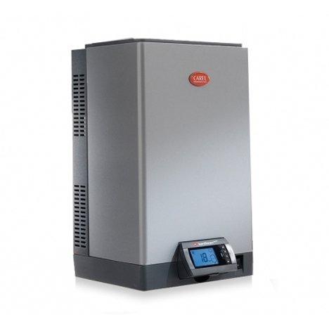 Увлажнитель воздуха CAREL humiSteam UE130XL001С погружными электродами<br>Для работы системы необходимо опциональное приобретение трубок и датчиков, которые представлены в аксессуарах:<br><br><br><br><br>1312367AXX<br><br><br>Трубка для подачи пара со стальной пружиной d=40 мм<br><br><br><br><br>1312368AXX<br><br><br>Трубка для отвода конденсата для канальных парораспределителей типа DP***, d = 10мм<br><br><br><br><br>1312357APG<br><br><br>SFH 040: резиновая трубка для слива воды d = 40мм<br><br><br><br><br>FWHDCV0003<br><br><br>Трубка для подачи питающей воды с двойным обратным клапаном (для увлажнителей UE025 - UE130 новых серий X,Y,W; для увлажнителей UE065 - UE130 старых серий H,P,T)<br><br><br><br><br>DPDC110000<br><br><br>Активный датчик температуры (-20 +70 С) и отн. влажности (10...90%) для монтажа в воздуховоде<br><br><br><br><br>DPDC210000<br><br><br>Активный датчик температуры (-20 +70 С) и отн. влажности (0 100%) для монтажа в воздуховоде (ограничительный)<br><br><br><br><br>DP105D40R0<br><br><br>Парораспределитель из нерж. стали, вх. диаметр 40 мм, длина 1050мм, 35 кг/ч<br><br><br><br><br> <br>Увлажнитель воздуха модели Carel humiSteam UE130XL001 подходит для монтажа в зданиях с различной конфигурацией. Эргономичный дизайн конструкции хорошо впишется в интерьер загородного дома или же административного помещения. Главной отличительной чертой оборудования является модулирующее управление, которое обеспечивает увлажнителю воздуха максимальный показатель эффективности работы.<br>Особенности промышленных изотермических увлажнителей Carel HumiSteam:<br><br>Высокопрочный стальной корпус с порошковой покраской.<br>Система против вспенивания исключает проникновение капель жидкости в систему распределения пара.<br>Электроды прибора оцинкованные, донный фильтр снабжен защитой от формирования накипи, что приводит к увеличению эксплуатационного ресурса цилиндров.<br>Плавная настройка производительности пара от 20%.<br>Интегрированная система для настройки, измерени