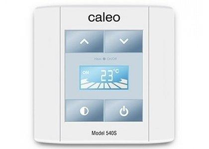 Теплый пол Caleo 540SТерморегуляторы<br>Накладной терморегулятор 540S от бренда CALEO оснащен сенсорным управлением и дисплеем, который отображает выбранный температурный режим. Просто в монтаже и использовании, сделает эксплуатацию отопительных систем максимально удобной.<br>Заботясь о комфорте пользователей своего оборудования, торговая марка CALEO разработала линейку аксессуаров, которые делают использование отопительных систем более простым и удобным. Посетители найдут большой выбор терморегуляторов для теплых полов от этого бренда: встраиваемые, с адаптером и без, с пультом и ручным управлением.<br><br>Страна: Россия<br>Мощность, кВт: None<br>Канальная мощность, кВт: 4,0<br>Длина, м: None<br>Программирование: None<br>Площадь, м?: None<br>Управление: Сенсорное<br>Функция защиты от перегрева: Есть<br>Тип кабеля: None<br>Размер, мм: 90х90х40<br>Напряжение, В: 220<br>Вес, кг: 1<br>Гарантия: 2 года<br>Ширина мм: 90<br>Высота мм: 90<br>Глубина мм: 40
