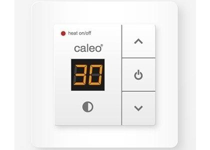 Теплый пол Caleo 720 с адаптерамиТерморегуляторы<br>Удобный терморегулятор CALEO 720 оснащен адаптерами, имеет возможность встраивания в рамки, изготовленные другими производителями. Простое интуитивно понятное управление, дисплей с информацией о текущей температуре и компактные размеры также входят в список преимуществ изделия.<br>Заботясь о комфорте пользователей своего оборудования, торговая марка CALEO разработала линейку аксессуаров, которые делают использование отопительных систем более простым и удобным. Посетители найдут большой выбор терморегуляторов для теплых полов от этого бренда: встраиваемые, с адаптером и без, с пультом и ручным управлением.<br><br>Страна: Россия<br>Мощность, кВт: None<br>Канальная мощность, кВт: 2,0<br>Длина, м: None<br>Программирование: None<br>Площадь, м?: None<br>Управление: Кнопочное<br>Функция защиты от перегрева: None<br>Тип кабеля: None<br>Размер, мм: 85х85х50<br>Напряжение, В: 220<br>Вес, кг: 1<br>Гарантия: 2 года<br>Ширина мм: 85<br>Высота мм: 85<br>Глубина мм: 50