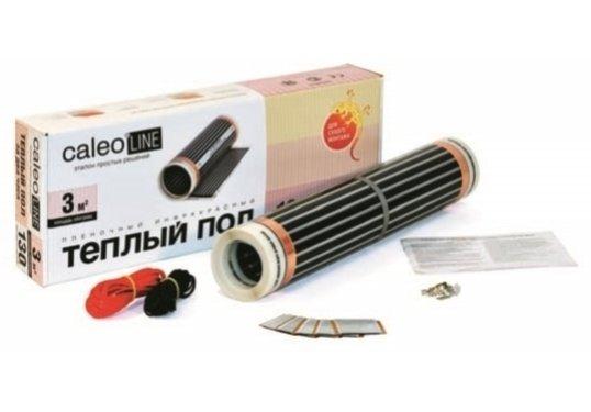 Теплый пол Caleo LINE 130-0,5-1,5Пленочные<br>Пленочный теплый пол модели LINE 130-0,5-1,5   еще одна разработка знаменитого бренда CALEO. Представленное оборудование   это самый удобный вариант теплого пола: укладывается пленочный нагревательный мат под напольное покрытие, а для монтажа вам не понадобятся на стяжка, ни клей. Кроме того, такой теплый пол сочетает в себе эффективность и экономичность благодаря тепловому излучению в инфракрасном спектре.<br>Особенности и преимущества пленочных теплых полов серии LINE от бренда CALEO:<br><br>Пленочный теплый пол второго поколения.<br>Ширина пленки  0,5 м.<br>Удельная мощность 130 Вт/ м2   для стандартных помещений.<br>Простейшее решение пленочного теплого пола.<br>Идеальны под ламинат, ковролин, линолеум, паркетную доску.<br>Быстрый и легкий монтаж без стяжки и клея.<br>Инфракрасный принцип обогрева:  живое  тепло, не сушит воздух, обладает антиаллергенным эффектом.<br>Экономичнее кабельных аналогов до 20%.<br>В комплекте все необходимое для монтажа: качественные зажимы, провода, изоляция.<br>КАЛЕО   пленочный теплый пол №1 в России по ежегодным исследованиям независимого агентства Step by Step.<br><br>Состав комплектов теплого пола CALEO LINE:<br><br>Термопленка в рулоне.<br>Монтажные комплекты (контактные зажимы и битумная изоляция на каждый м2).<br>Комплект соединительных проводов.<br>Черно-белая инструкция по монтажу, включающая гарантийный талон.<br><br>Бренд CALEO разработал серию пленочных теплых полов, которые пользуются невероятной популярностью у российских покупателей. Это семейство под названием LINE. Простые, недорогие, эффективные   идеальный выбор для тех, кто ценит качество и разумную цену. Стоит отметить, что торговая марка CALEO   это отечественный производитель, продукция которого зарекомендовала себя в лучшем качестве, так как отличается надежностью и превосходным исполнением. Пленочные полы под брендом CALEO   одни из лучших представителей в своем сегменте!<br><br>Страна: Россия<br>Удельная мощ., В
