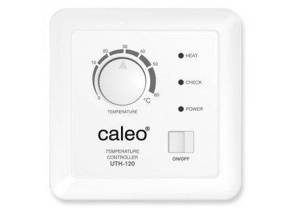 Теплый пол Caleo UTH-120Терморегуляторы<br>CALEO UTH-120 представляет собой встраиваемый терморегулятор, предназначенный для управления системой теплый пол. Имеет простое механическое управление, отличается компактными размерами, а комплект поставки предусматривает датчик температуры для защиты от перегрева.<br>Заботясь о комфорте пользователей своего оборудования, торговая марка CALEO разработала линейку аксессуаров, которые делают использование отопительных систем более простым и удобным. Посетители найдут большой выбор терморегуляторов для теплых полов от этого бренда: встраиваемые, с адаптером и без, с пультом и ручным управлением.<br><br>Страна: Россия<br>Мощность, кВт: None<br>Канальная мощность, кВт: 2,5<br>Длина, м: None<br>Программирование: None<br>Площадь, м?: None<br>Управление: Механическое<br>Функция защиты от перегрева: Есть<br>Тип кабеля: None<br>Размер, мм: 90х90х47<br>Напряжение, В: 220<br>Вес, кг: 1<br>Гарантия: 2 года<br>Ширина мм: 90<br>Высота мм: 90<br>Глубина мм: 47