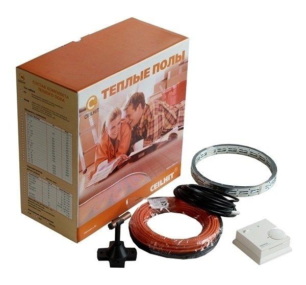 Теплый пол Ceilhit 22_PVD/18 770Нагревательные кабели<br>Чтобы зимой с удовольствием ходить босиком по кафельному полу, установите в своем доме систему подогрева пола. Для таких систем как раз предназначен нагревательный кабель CEILHIT 22_PVD/18 770 с двойной греющей жилой, повышающей термоэффективность всей отопительной системы. Изоляционный слой, имеющий в своем составе тефлон, делает более равномерным распределение тепла и усиливает его отдачу.&amp;nbsp;<br>Технические характеристики:<br><br>Двухжильная конструкция кабеля<br>Диаметр каждой нагревательной жилы 4 мм<br>PVC-покрытие делает теплоотдачу максимально равномерной<br>Надежная изоляция<br>Широкая сфера применения<br>Мягкий и равномерный обогрев всего помещения<br>Закладывается в цементную стяжку или слой плиточного клея<br>Невероятно простой монтаж<br>Экологически безопасен<br>Качество соответствует международным стандартам<br>Гарантировано бесперебойная работа в течение 15 лет<br><br>Двужильный неэкранированный кабель для системы теплого пола Ceilhit 22 PVD подходит для использования в жилых и нежилых помещениях. Два нагревающихся провода обеспечивают усиленный нагрев пола и позволяет повысить термоэффективность системы почти в два раза.<br>Экран, представленный металлической оплеткой из медной и стальной проволоки, обеспечивает стабильную работу электрической системы теплого пола и выполняет функцию заземляющего проводника. Металлическая оплетка обеспечивает дополнительную защиту системы при ее укладке в помещении с повышенной влажностью.<br>Теплые полы производства компании Ceilhit подходят для использования абсолютно в любом месте &amp;ndash; от детской спальни до балкона, гаража или чердака. Высокую безопасность и надежность работы системы при укладке кабеля полу помещения с повышенной влажностью обеспечивает надежная изоляция &amp;ndash; два изолирующих слоя обеспечивают отличную защиту нагревательного кабеля от внешних факторов.<br>Теплые полы испанской компании Ceilhit благодаря своему высокому кач