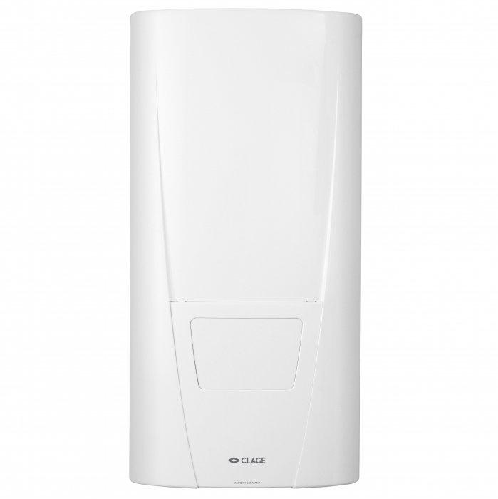 Водонагреватель Clage24 кВт<br>Clage DBX 27 проточный водонагреватель с регулируемой мощностью в зависимости от входящих параметров температуры и давления потока воды благодаря электронной системе. Спиральный нагреватель эффективной мощности с трехфазным питанием и сопротивляемостью к накипи. Прибор имеет защиту от неблагопритных внешних факторов, что позволяет ему выполнять свои функции.<br> <br><br>Особенности DBX<br><br><br>Электронная система управления. Настройка желаемой выходной температуры в диапазоне от 30 до 60  C <br>Спиральный нагревательный элемент IES <br>Встроенная защита от перегрева и от низкого давления<br>Скрытое/открытое подключение трубопроводов<br>Четыре варианта мощности<br>Класс защиты корпуса   IP 25<br>Класс энергопотребления   A<br><br><br>Серия DBX трехфазных водонагревателей довольно большой мощности, позволяющей обслуживать сразу несколько водозаборных точек помимо одной. Установлена система электронного управления по мощности с базовой конфигурацией настроек. Хорошая доступность ко всем частям конструкции для обслуживания. Возможность как скрытого, так и открытого присоединения трубопроводов.<br><br>Страна: Германия<br>Производитель: Германия<br>Темп. нагрева, С: 60<br>Способ нагрева: Электрический<br>Производительность: 13,8<br>Мощность, кВт: 27<br>Защита от перегрева: Есть<br>LCD дисплей: None<br>Управление: Электронное<br>Тип установки: Настенная<br>Подводка: Нижняя<br>Комплектация: Нет<br>Тип подачи: Напорный<br>Напряжение сети, В: 380 В<br>Габариты ШхВхГ, см: 46,6х23,1х9,7<br>Вес, кг: 4<br>Гарантия: 3 года<br>Ширина мм: 466<br>Высота мм: 231<br>Глубина мм: 97