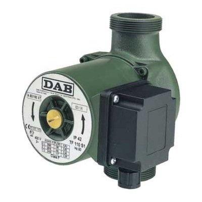 Циркуляционный насос DAB A 56/180 XT - 400 vНасосы для отопления<br>Насосы DAB (Даб) A 56/180 XT - 400 v представляют собой современные циркуляционные насосы поверхностного типа, используемые преимущественно для систем отопления зданий, позволяя обеспечивать бесперебойную работу системы и более точное регулирование температуры на клапане каждого отдельного радиатора. Монтаж возможен в любом положении. Техническое обслуживание максимально упрощено.<br>Особенности рассматриваемой модели одиночного циркуляционного насоса от торговой марки DAB:<br><br>Применяются для бытовых систем: отопления, горячего водоснабжения;<br>Высокая производительность;<br>Муфтовый тип присоединения патрубков;<br>Не предназначены для использования в  системах питьевого водоснабжения;<br>Типы перекачиваемых сред: вода, смеси с этиленгликолем (макс. содержание гликоля 30%);<br>Трехскоростной электромотор;<br>Тип ротора  мокрый ;<br>Надежная защита от коррозии   корпус наcоса изготовлен из чугуна;<br>Универсальность установки: монтаж возможен как на горизонтальном, так и на вертикальном участке трубопровода;<br>Экономия электроэнергии, а также снижение уровня шума достигается путем выбора пониженной скорости вращения;<br>100% гарантия качества.<br><br>Серия одиночных насосов от итальянской торговой марки DAB   это высокое качество материалов изготовления и непревзойденно высокая эффективность в работе. Все приборы исполнены в моноблочном корпусе, широкий модельный ряд располагает моделями с различным вариантом монтажа: вертикальным, горизонтальным или универсальным. В нашем онлайн каталоге вы найдете одиночные насосы с электронным и с механическим управлением. Модели имеют три скорости работы и ротор, омываемый жидкостью. <br><br>Страна: Италия<br>Производитель: Италия<br>Производ. л/мин: 233,3<br>диаметр подключ., d: 2<br>Монтажная длина, мм: 180<br>Мощность, Вт: 291<br>Напряжение сети, В: 220 В<br>Раб. давление, бар: 10<br>Режим работы: 3 скорости<br>Max темп. жидкости, С: 110<br>Класс защиты: