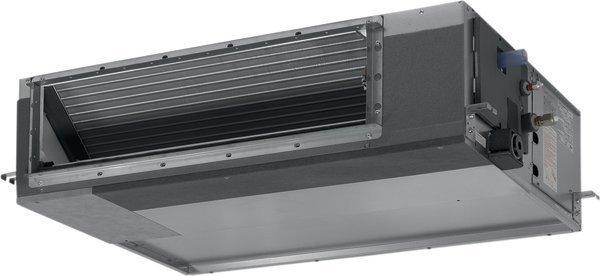 VRF система Daikin FXDQ50P7Канальные<br>Daikin (Дайкин) FXDQ50P7 представляет собой универсальный канальный внутренний блок, исполненный в высокотехнологичном компактном корпусе особой прочности. Рассматриваемое климатическое оборудование характеризуется отличными показателями производительности, оснащено системой автодиагностики неполадок, а также имеет увеличенный срок эксплуатации.<br>Особенности и преимущества мультизональных VRV-систем Daikin:<br><br>Комплексное решение для отопления, кондиционирования, вентиляции, горячего водоснабжения, воздушных завес и центрального управления.<br>Индивидуальный зональный контроль в каждом помещении и на каждом этаже коммерческого здания.<br>Оптимизируют сезонную эффективность при использовании высокоэффективных наружных и внутренних блоков, с рекуперацией теплоты и инверторной технологией, интеллектуальным управлением энергопотреблением и т.д.<br>Обеспечивают подачу свежего воздуха при нужной температуре, с требуемым уровнем влажности и при минимальном уровне шума.<br>Управление микроклиматом на каждом этаже или помещении значительно экономит энергию.<br>Модульный принцип VRV обеспечивает большую гибкость для компенсации тепловых нагрузок в разных частях здания.<br>VRV IV включает конфигуратор VRV для упрощения ввода в эксплуатацию.<br><br>Преимущества канальных внутренних блоков мультизональных VRV-систем Daikin серии FXDQ-P7:<br><br>Возможность изменять внешнее статическое давление блока при помощи проводного пульта дистанционного управления позволяет оптимизировать расход воздуха<br>High external static pressure up to 200Pa facilitates extensive duct and grille network<br>Компоненты системы скрыты за стеной: видны только воздухозаборные и воздухораспределительные решетки<br>Сниженное потребление энергии благодаря использованию электродвигателя вентилятора постоянного тока специальной конструкции<br>Возможен подмес свежего воздуха, это уменьшает расходы на монтаж, и не требуется дополнительной вентиляционной установки<br>