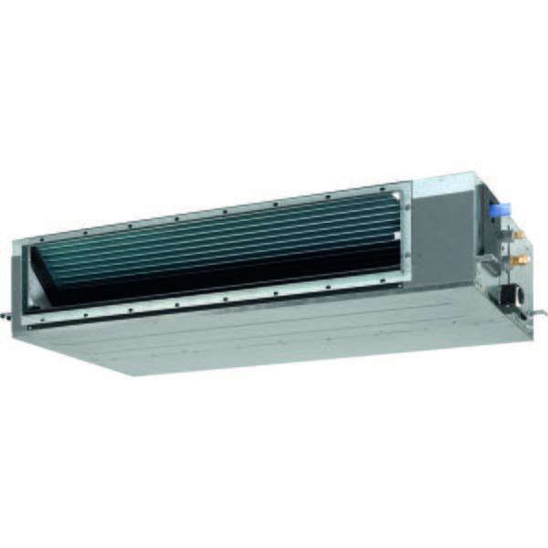 VRF система Daikin FXSQ80AКанальные<br>Daikin (Дайкин) FXSQ80A   мощный и производительный канальный внутренний блок с установкой скрытого типа и передовой конструкцией встроенного вентилятора. Представленный агрегат применяется в мультизональных климатических системах Daikin, не производит шума при эксплуатации, а также оснащен широким функциональным рядом для обеспечения высокого уровня комфорта пользователя.<br>Особенности и преимущества мультизональных VRV-систем Daikin:<br><br>Комплексное решение для отопления, кондиционирования, вентиляции, горячего водоснабжения, воздушных завес и центрального управления.<br>Индивидуальный зональный контроль в каждом помещении и на каждом этаже коммерческого здания.<br>Оптимизируют сезонную эффективность при использовании высокоэффективных наружных и внутренних блоков, с рекуперацией теплоты и инверторной технологией, интеллектуальным управлением энергопотреблением и т.д.<br>Обеспечивают подачу свежего воздуха при нужной температуре, с требуемым уровнем влажности и при минимальном уровне шума.<br>Управление микроклиматом на каждом этаже или помещении значительно экономит энергию.<br>Модульный принцип VRV обеспечивает большую гибкость для компенсации тепловых нагрузок в разных частях здания.<br>VRV IV включает конфигуратор VRV для упрощения ввода в эксплуатацию.<br><br>Преимущества канальных  внутренних блоков мультизональных VRV-систем Daikin серии FXSQ-A:<br><br>Самый тонкий блок в своем классе, всего 245 мм (высота встраивания 300 мм), поэтому узкие потолочные пространства больше не являются неразрешимой проблемой<br>Бесшумная работа: до уровня звукового давления 25 дБА<br>Среднее внешнее статическое давление до 150 Па дает возможность применять гибкие воздуховоды различной длины<br>Возможность изменять внешнее статическое давление блока при помощи проводного пульта дистанционного управления позволяет оптимизировать расход воздуха<br>Компоненты системы скрыты за стеной: видны только воздухозаборные и воздухораспределительны