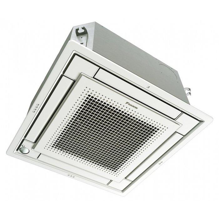 VRF система Daikin FXZQ50AКассетные<br>Daikin (Дайкин) FXZQ50A представляет собой производительный внутренний кассетный блок для коммерческих помещений, оснащенный передовым функционалом и изготовленный из материалов особого качества. Рассматриваемая модель имеет стильное исполнение внешней панели, благодаря чему отлично подходит для установки и эксплуатации на объектах с обновленным интерьером.<br>Особенности и преимущества мультизональных VRV-систем Daikin:<br><br>Комплексное решение для отопления, кондиционирования, вентиляции, горячего водоснабжения, воздушных завес и центрального управления.<br>Индивидуальный зональный контроль в каждом помещении и на каждом этаже коммерческого здания.<br>Оптимизируют сезонную эффективность при использовании высокоэффективных наружных и внутренних блоков, с рекуперацией теплоты и инверторной технологией, интеллектуальным управлением энергопотреблением и т.д.<br>Обеспечивают подачу свежего воздуха при нужной температуре, с требуемым уровнем влажности и при минимальном уровне шума.<br>Управление микроклиматом на каждом этаже или помещении значительно экономит энергию.<br>Модульный принцип VRV обеспечивает большую гибкость для компенсации тепловых нагрузок в разных частях здания.<br>VRV IV включает конфигуратор VRV для упрощения ввода в эксплуатацию.<br><br>Преимущества кассетных двухпоточных внутренних блоков мультизональных VRV-систем Daikin серии FXZQ-A:<br><br>Монтируются под фальш-потолок<br>Обеспечивают охлаждение и нагрев воздуха<br>Универсальное и практичное решение<br>Управляются при помощи мощного и экономичного инвертора, который снижает потребление энергии на 30% в год<br>Позволяют настроить работу кондиционера в соответствии с вашим распорядком дня и индивидуальными предпочтениями<br>Широкоугольные воздушные заслонки распределяют воздух по всему периметру помещения на 360 <br>Функция двойного контроля температуры позволяет контролировать как среднюю, так и точную температуру в какой-либо из зон комнаты.<br><br>Мультиз