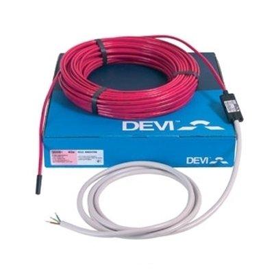 Теплый пол Devi 18T 2791ВтНагревательные кабели<br>Предлагаем вниманию профессионалов специальный греющий кабель модели &amp;laquo;18T 2791Вт&amp;raquo; из серии &amp;laquo;Deviflex&amp;raquo; от торговой марки Devi. &amp;nbsp;Изделие отличается универсальностью в монтаже &amp;ndash; кабель можно использовать не только в системах обогрева пола, но и в системах снеготаяния на специальных площадках и системах антизамерзания труб. &amp;nbsp;&amp;nbsp;<br>Особенности рассматриваемой модели греющего кабеля для теплого пола или труб от компании Devi:<br><br>Двухжильный экранированный кабель высокого качества.<br>Применяется в тонких бетонных стяжках или в трубах с водой (для антизамерзания).<br>Пластик без содержания свинца.<br>Функция самозатухания.<br>Высокая экологическая безопасность.<br>Максимальная экономия электрической энергии.<br>Идеальное решение, как&amp;nbsp; для дома, так и для помещений другого типа.<br>Экран: сплошной, алюм. фольга + луженый медный провод 0,5 мм2.<br>Внутренняя изоляция XLPE.<br>Наружная изоляция PVC.<br>Максимальная температура 65&amp;deg;C.<br>Гарантия качества и длительного срока эксплуатации.<br>Сертификаты: УкрТЕСТ, ГОСТ Р, IEC 60800, SEMKO, CE&amp;nbsp;&amp;nbsp;&amp;nbsp;&amp;nbsp;&amp;nbsp;&amp;nbsp;&amp;nbsp;&amp;nbsp;&amp;nbsp;&amp;nbsp;&amp;nbsp;&amp;nbsp;&amp;nbsp;&amp;nbsp; .<br><br>Серия нагревательных кабелей для систем отопления &amp;laquo;Теплый пол&amp;raquo; &amp;ndash; &amp;laquo;Deviflex&amp;trade;&amp;raquo; от известной качественным и долговечным оборудованием датской компании-производителя Devi представлена широким выбором моделей. Все изделия представляют собой двухжильный греющий элемент пониженной мощности, оснащенный одним холодным концом. Модели отличаются невероятно низким потреблением электричества, но при этом характеризуются высокой производительностью и стабильностью в работе. Благодаря высокому качеству и современным материалам производства, кабели Deviflex&amp;trade; могут быть использованы, как в система