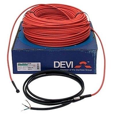 Теплый пол Devi DTIP-18 250 / 270 ВтНагревательные кабели<br>Пятнадцатиметровый нагревательный кабель для создания системы обогрева  Теплые полы , DTIP-18, мощностью в 0,25/0,27 кВт отличается стабильностью в работе и гарантированно длительным сроком эксплуатации. Модель являет собой две нагревательные жилы, оснащенные изоляцией и сплошным алюминиево-медным экраном.<br>Особенности рассматриваемой модели греющего кабеля для теплого пола или труб от компании Devi:<br><br>Двухжильный экранированный кабель высокого качества.<br>Применяется в тонких бетонных стяжках или в трубах с водой (для антизамерзания).<br>Пластик без содержания свинца.<br>Функция самозатухания.<br>Высокая экологическая безопасность.<br>Максимальная экономия электрической энергии.<br>Идеальное решение, как  для дома, так и для помещений другого типа.<br>Экран: сплошной, алюм. фольга + луженый медный провод 0,5 мм2.<br>Внутренняя изоляция XLPE.<br>Наружная изоляция PVC.<br>Максимальная температура 65 C.<br>Гарантия качества и длительного срока эксплуатации.<br>Сертификаты: УкрТЕСТ, ГОСТ Р, IEC 60800, SEMKO, CE               .<br><br>Серия нагревательных кабелей для систем отопления  Теплый пол     Deviflex   от известной качественным и долговечным оборудованием датской компании-производителя Devi представлена широким выбором моделей. Все изделия представляют собой двухжильный греющий элемент пониженной мощности, оснащенный одним холодным концом. Модели отличаются невероятно низким потреблением электричества, но при этом характеризуются высокой производительностью и стабильностью в работе. Благодаря высокому качеству и современным материалам производства, кабели Deviflex  могут быть использованы, как в системах теплого пола, так и в системах аккумуляции тепла и даже в качестве защиты трубопроводов от образования льда.   <br><br>Страна: Дания<br>Мощность, кВт: 0,27<br>Удельная мощ., Вт/м?: 16,5/18,0<br>Длина, м: 15<br>Площадь, м?: None<br>Тип кабеля: Двужильный<br>Напряжение, В: 220/230<br>диаметр нагр