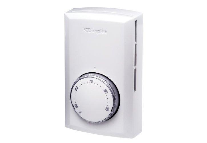 Термостат Dimplex TS 521WАксессуары<br>TS 521W представляет собой термостат для подключения к электрическим конвекторам  от компании Dimplex. Аксессуар позволяет точно регулировать температуру обогрева, для чего предусмотрен удобный механический переключатель.<br>Особенности прибора:<br><br>Выбор шкалы по Фаренгейту или Цельсию. Точность настройки 1  C/1.8  F.<br>Диапазон температур 5  - 35  C, 45  to 90  F.<br>Нейтральное белое покрытие.<br>Округленные края, утонченный дизайн.<br>Большой, легко читаемый диск контроля.<br>Биметаллическая чувствительность.<br>Разработанный для замера восходящей вентиляции, проходящей биметаллическую пластину для оптимальной точности.<br>Подводящие провода заключены в переключатель для безопасности.<br><br> <br><br>Торговая марка Dimplex разработала линейку аксессуаров для своих электрических обогревательных приборов. В серии представлены различные термостаты, таймеры, радиопрограмматоры и т.д., которые призваны сделать использование конвекторов максимально комфортным для пользователя.<br><br>Страна: Норвегия<br>Размеры, мм: 120х72,5х45<br>Вес, кг: 1<br>Гарантия: 1 год