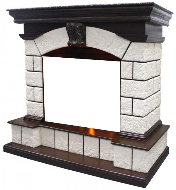 Камин Dimplex Tower (для Cassete 600)Порталы из камня<br>Tower от торговой марки Dimplex &amp;ndash; это поистине шедевр ирландских дизайнеров, способный привнести в дом неповторимую атмосферу уюта и умиротворения. Данная модель портала облицована камнем с элементами из натурального шпона. Верхняя часть каминного портала являет собой достаточно широкую полочку, на которой с легкостью разместить различные предметы декора, соответствующие стилю оформительского решения помещения. Внутреннее пространство для каминной топки представляет собой прекрасную имитацию кирпичной кладки, что еще больше усиливает эффект реалистичности.<br><br>Преимущественные особенности каминного портала для электрокамина от торговой марки Dimplex:<br><br>Интересный дизайн в стиле каминной классики.<br>Великолепное сочетание цветов: камень цвета шампань с темный дуб<br>Фронтальный вариант исполнения.<br>Широкая каминная полка.<br>Материалы изготовления: МДФ, натуральный шпон, камень.<br>Портал устойчив к разрушающему воздействию солнечных лучей.<br>Простая установка, не требующая профессиональных навыков.<br>Комплектуется с электрическим очагом Cassette 600 (цена на данный портал указана без стоимости электроочага).<br>Долгий срок эксплуатации.<br><br>Каждому хочется хоть раз в жизни подарить своим близким ощущение замечательной доброй сказки, а где же ей еще родиться как не около камина в холодный зимний день? Серия каменных порталов для электрических каминов от компании Dimplex &amp;nbsp;поможет создать у вас дома атмосферу уюта, комфорта и поистине королевского великолепия. Стиль каминов с таким оформлением подойдет, как к неоклассицизму, романскому, барочному интерьеру, &amp;nbsp;так и к классике. &amp;nbsp;Все порталы серии изготовлены из качественного МДФ, с отделкой из шпона натуральных пород древесины, облицовка выполнена из камня, что делает их долговечными и простыми в уходе.&amp;nbsp;<br><br>Страна: Ирландия<br>Материал портала: МДФ/нат. шпон, камень<br>Цвет: Дуб<br>Тип портала: Фронт