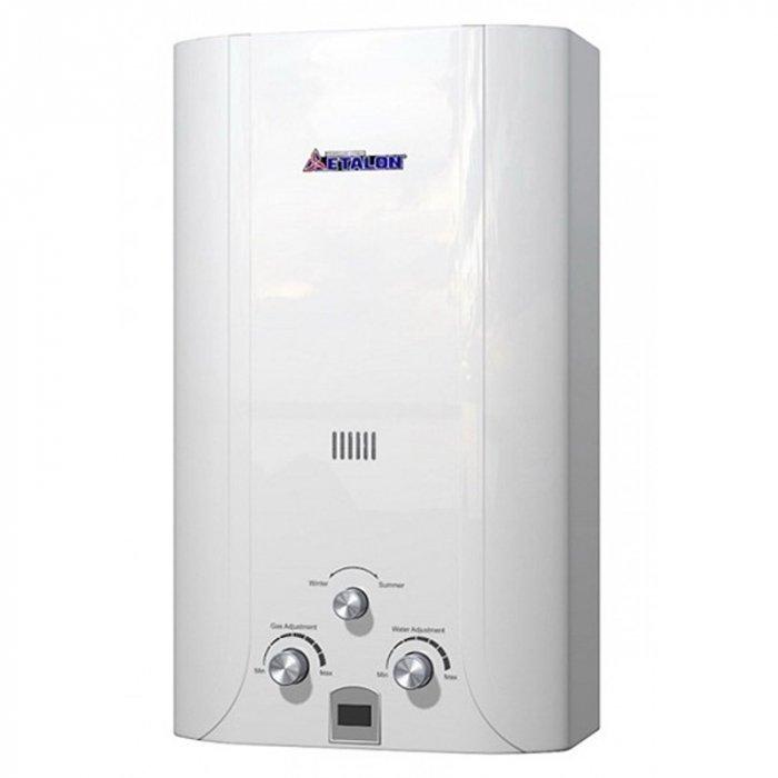 Водонагреватель ETALON Y 12 I21-27 кВт<br>Газовая колонка Etalon Y 12 I предназначена для настенной установки в частных домах и квартирах. Оборудование оснащено регуляторами газа и воды, что позволяет настроить требуемую температуру воды без последующего разбавления. Для запуска водонагревателя достаточно открыть кран горячей воды, после его закрытия агрегат автоматически отключается.&amp;nbsp;<br>Особенности и преимущества:<br><br>Усиленный луженый теплообменник;<br>Усиленный водогазовый узел;<br>Регулировка протока воды и объёма подачи газа;<br>Переключатель режимов &amp;laquo;зима/лето&amp;raquo; для экономии газа;<br>Белоснежный корпус RAL9016;<br>Индикатор температуры;<br>Электронный розжиг горелки;<br>Многоступенчатая система защиты;<br>Батарейки в комплекте.<br><br>Газовые колонки от бренда Etalon &amp;mdash; это разработка отечественного производителя, которая станет прекрасным выбором для использования в бытовых целях. Высокая производительность водонагревателей сочетается с экономичным потреблением газа, а стильный дизайн устройств эргономичен. Вместе с наличием прекрасной системы безопасности все это делает газовые колонки Etalon прекрасными представителями своего сегмента.<br><br>Страна: Россия<br>Производитель: Россия<br>Способ нагрева: Газовый<br>Производительность: 12<br>Темп. нагрева, С: None<br>Давление на входе: 0,25...8<br>Мощность, кВт: 24,0<br>Тип камеры: Открытая<br>Дисплей: Нет<br>Защита: Да<br>Установка: Настенная<br>Розжиг: Электророзжиг<br>Теплообменник: Медный<br>Модуляция мощности: Нет<br>Габариты ШхВхГ, см: 35,5x65x21<br>Вес, кг: 12<br>Гарантия: 1 год<br>Ширина мм: 355<br>Высота мм: 650<br>Глубина мм: 210