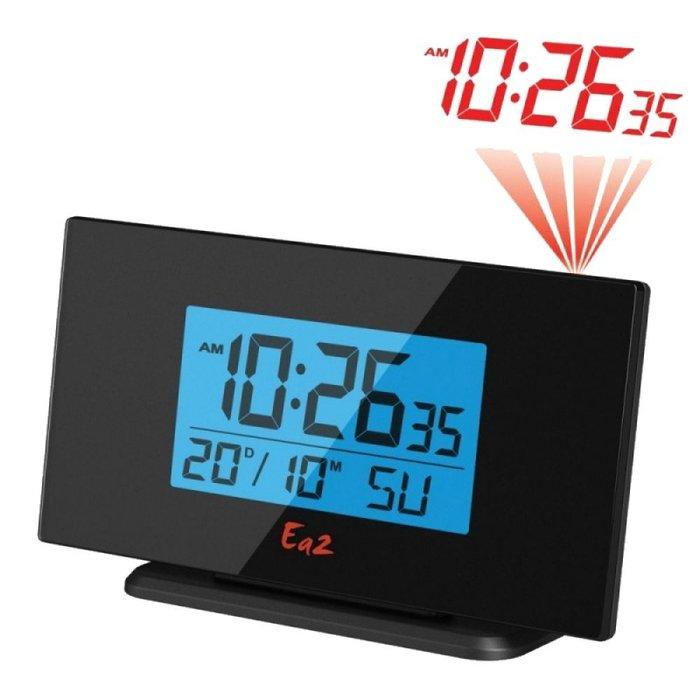 Проекционные часы Ea2 BL505Красная проекция<br>Настольные проекционные часы Ea2 BL505 с будильником прекрасно служат на протяжении долгого времени, могут питаться как от сети, так и от батареек, а также комфортно управляются и не шумят при работе. На дисплее, в котором предусмотрена подсветка, выводится актуальная информация о времени и текущем дне календаря. Часы с лазерной проекцией способны переводить информацию дисплея на потолок.<br><br>Страна: Китай<br>Питание, В: Батарейки<br>Тип батарейки: ААА<br>Колво батареек: 3<br>Адаптер к 220В: Нет<br>С будильником: Да<br>Радиодатчик: None<br>С метеостанцией: None<br>В помещении t, С: Нет<br>За окном t, С: Нет<br>Влажность в помещении: Нет<br>Влажность за окном: Нет<br>Давление: Нет<br>Прогноз погоды: Нет<br>Габариты, мм: 158x87x48<br>Вес, кг: 1<br>Гарантия: 1 год<br>Ширина мм: 87<br>Высота мм: 158<br>Глубина мм: 48