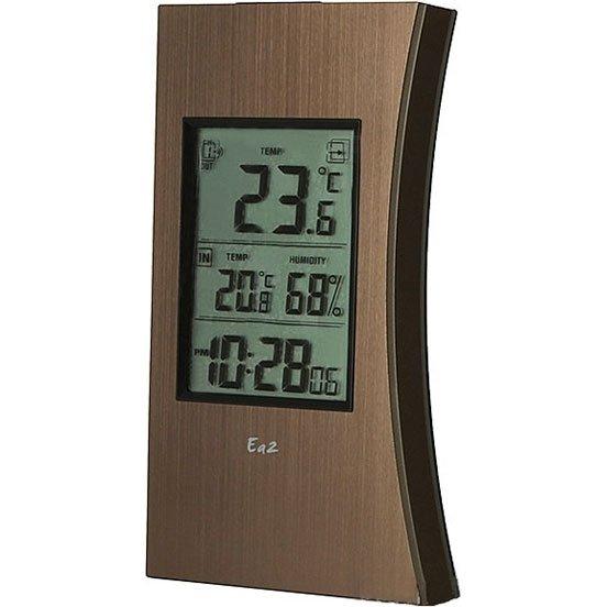 Термометр Ea2 ED602С радиодатчиком<br>Модель Ea2 ED602 &amp;ndash; это передовая домашняя метеостанция, которая позволяет контролировать температуру и влажность воздушных масс, а также следить за временем. Устройство представлено в оригинальном стильном корпусе, для изготовления которого были использованы прочные и качественные материалы. Благодаря удобной конструкции станция легко размещается в нужном месте.<br>Особенности и преимущества метеостанции:<br><br>Диапазон измеряемой температуры&amp;nbsp; 0&amp;deg;C... +50&amp;deg;C (32&amp;deg;F... +122&amp;deg;F)<br>Единицы измерения температуры&amp;nbsp; &amp;deg;C или &amp;deg;F ( по выбору)<br>Диапазон измерения влажности 20%..... 95%<br>Питание 3 батарейки ААА (не в комплекте)<br>Радиус передачи сигнала 30 метров<br>Частота радиопередачи 433 МГц<br><br>Умные гаджеты от торговой марки Ea2 &amp;mdash; это отличное приобретение для себя или в подарок! Семейство представлено множеством интересных и полезных решений: различные метеостанции, многофункциональные часы, термометры и целый ряд аксессуаров. Все приборы исполнены в стильном эргономичном дизайне, имеют очень понятное управление и весьма информативный интерфейс.&amp;nbsp;<br>&amp;nbsp;<br>&amp;nbsp;<br>&amp;nbsp;<br><br>Страна: Китай<br>Питание, В: Батарейки<br>Диапазон  t, С: 40+50<br>Тип батарейки: ААА<br>Колво батареек: 3<br>Габариты, мм: 158х80х19<br>Вес, кг: 1<br>Гарантия: 1 год<br>Назначение: Нет<br>Ширина мм: 80<br>Высота мм: 158<br>Глубина мм: 19