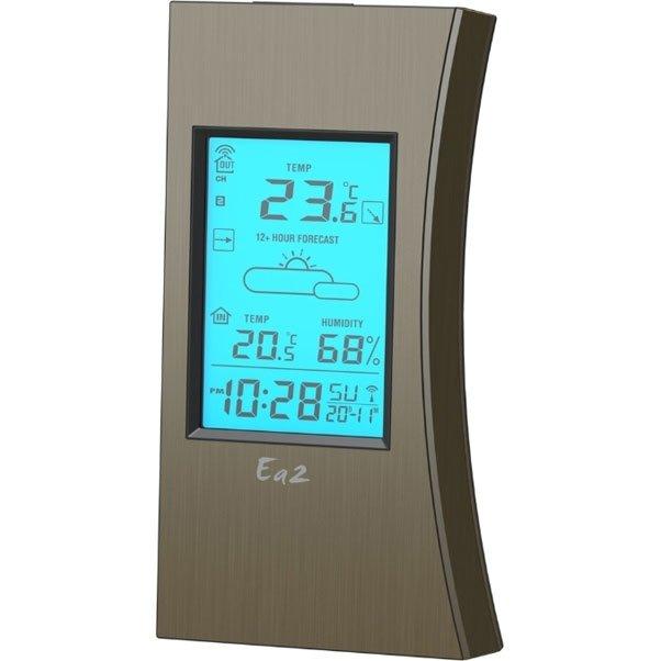 Метеостанция с беспроводным датчиком Ea2 ED603С радиодатчиком<br>Интеллектуальная домашняя метеостанция Ea2 ED603 с беспроводным датчиком выносного типа сообщает пользователю об актуальных состояниях воздуха, а также прогнозирует погодные условия на основании собранных данных. Представленное электронное оборудование отличается сравнительно комфортным и простым управлением. Встроенный информационный дисплей имеет подсветку и отличается достаточно большими размерами, позволяющими вместить всю необходимую информацию.<br><br>Страна: Китай<br>Диапазон темп. t, С: 40+50<br>Диапазон p, мм. рт. ст.: None<br>Диапазон rH, : 2099<br>Разрешение t, С: None<br>Цвет корпуса: Кориченевый<br>Питание, В: Батарейки<br>Колво батареек: 3<br>Тип батарейки: ААА<br>Адаптер к 220В: Нет<br>В комнате t, С: Да<br>За окном t, С: Да<br>Влажность в помещении: Да<br>Влажность за окном: Да<br>Давление: Нет<br>Прогноз погоды: Да<br>Лунный календарь: Нет<br>Размер, мм: 158х80х19<br>Вес, кг: 1<br>Гарантия: 1 год<br>Ширина мм: 80<br>Высота мм: 158<br>Глубина мм: 19