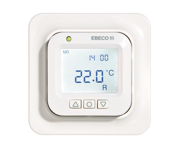 Теплый пол Ebeco EB-Therm 355Терморегуляторы<br>EBECO EB Therm 355   современный регулятор температуры с электронным управлением, с большим LED дисплеем для интеллектуального управления системой теплых полов со встроенными программами энергосбережения. Регулятор температуры EB Therm 355 позволяет экономить электроэнегрию путем адаптации системы обогрева к актуальным потребностям в нагреве, к примеру, снижать температуру, когда никого нет не дома. Для этого прибор имеет 4 программных опции: две из них предназначены для дома и офиса, одна программа основа на персональных настройках и последняя это программа защиты помещения от замерзания.<br>Термостат EB Therm 355 управляет нагревом тремя способами:<br><br>Термостат с датчиком температуры пола (заводская настройка 22 0С);<br>Термостат с датчиком температуры воздуха;<br>Термостат с датчиком температуры воздуха и защитой от перегрева пола.<br><br>Особенности терморегулятора EB Therm 355:<br><br>Технология интеллектуального управления (Fuzzy technology);<br>LED дисплей с подсветкой;<br>Интеллектуальная подсветка: зеленая подсветка   термостат работает, нагрев отключен, красная   термостат работает, нагрев включен, мигающая зеленая и красная подсветка   ошибка (с выводом на дисплей кода ошибки), нет цвета   термостат выключен или нет питания;<br>Два запрограммированных режима ночного понижения температуры   домашний комфорт  и программа  офис ;<br>Дополнительные функции: функция адаптации, режим проветривания, функция антиобледенения;<br>Ручное программирование;<br>Выносной датчик пола и сенсорный кабель длиной 3 метра в комплекте;<br>Встроенный датчик температуры воздуха;<br>Декоративная панель для отдельной установки;<br>Регулировка температуры пола в пределах от +5 до +37 0С;<br>Регулировка температуры воздуха в пределах от +5 до +37 0С;<br>Ограничение температуры +5  +45 0С;<br>Мониторинг неисправности датчиков   автоотключение обогрева в случае неисправности;<br>В случае перебоев с электропитанием настройки терморегу