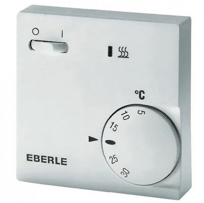 Инфракрасный обогреватель Eberle RTR-E 6202 с выкл и индикаторомАксессуары<br>Терморегулятор германского производства модели Eberle RTR-E 6202 с выкл и индикатором предназначен для подключения к обогревателям инфракрасного типа. Этот прибор позволяет легко управлять работой оборудования   изменять тепловую производительность, а также запускать и прекращать его работу. На корпусе термостата установлен индикатор рабочего состояния обогревателя, свечение которого говорит о том, что обогреватель находится в активном режиме. <br><br>Страна: Германия<br>Тип установки: Настенная<br>Мощность, кВт: None<br>Габариты, мм: 75x75x25<br>Гарантия: 1 год<br>Вес, кг: 1<br>Ширина мм: 75<br>Высота мм: 75<br>Глубина мм: 25