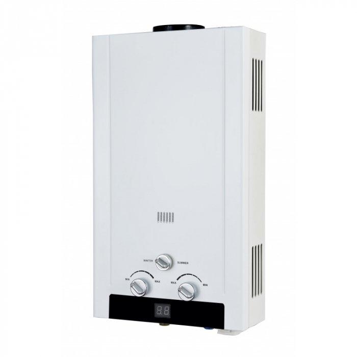 Водонагреватель Edisson H 20 D16-21 кВт<br>Газовый проточный водонагреватель Edisson (Эдиссон) H 20 D разработан для бытового использования. Оборудование предназначено для настенной установки в вертикальном положении. Конструкция надежно защищена от коррозии перегрева и скачков перенапряжения. В качестве топлива используется природный газ. Модель считается экономически более выгодной, чем аналогичные устройства электрического типа.<br>Особенности и преимущества:<br><br>Луженый теплообменник весом 1,9 кг<br>Стандартный водогазовый узел<br>Регулировка протока воды и объёма подачи газа<br>Переключатель режимов &amp;laquo;зима/лето&amp;raquo; для экономии газа<br>Белоснежный корпус RAL9016<br>Индикатор температуры<br>Электронный розжиг горелки<br>Многоступенчатая система защиты<br>Узкий корпус<br><br>Газовые колонки EDISSON &amp;mdash; это современное решение для подогрева воды в бытовых и технических целях. Проточные водонагреватели, работающие на газовом топливе, являются наиболее экономичным вариантом, а также могут похвастать быстротой в повышении температуры воды до нужного уровня. Колонки имеют компактные размеры, оснащены системой безопасности и просты в эксплуатации.<br><br>Страна: Великобритания<br>Производитель: Китай<br>Способ нагрева: Газовый<br>Производительность: 10,0<br>Темп. нагрева, С: 65<br>Давление на входе: 0,025<br>Мощность, кВт: 20,0<br>Тип камеры: Открытая<br>Дисплей: Нет<br>Защита: Да<br>Установка: Настенная<br>Розжиг: Электророзжиг<br>Теплообменник: Медный<br>Модуляция мощности: Нет<br>Габариты ШхВхГ, см: 34x59x14<br>Вес, кг: 8<br>Гарантия: 1 год<br>Ширина мм: 340<br>Высота мм: 590<br>Глубина мм: 140