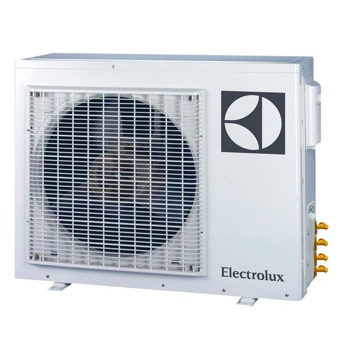 Внешний блок мульти сплит-системы Electrolux EACO/I-42 FMI-5/N3_ERP5 комнат<br>Если в вашем доме или офисе у каждого свои представления о комфортном климате, то оптимальным решением станет установка сплит-системы с универсальным внешним блоком Electrolux (Электролюкс) EACO/I-42 FMI-5/N3_ERP. Данные блоки позволяют подключить до пяти внутренних блоков различной комплектации, что дает возможность создать различный микроклимат в каждом отдельном уголке вашего дома, офиса, коттеджа или любого другого помещения. Работа блока осуществляется бесшумно и с минимальным потреблением энергии, не сказываясь на мощности работы системы.<br>Особенности и преимущества внешних блоков мультисплит-систем серии Super Match ERP  от компании Electrolux:<br><br>Экономия электроэнергии. DC-инверторная технология обеспечивает максимально точное поддержание температуры в помещении и снижение энергопотребления до минимума (на 30-40% по сравнению с обычным кондиционером)<br>Бесшумная работа. Плавная работа компрессора дает возможность значительно снизить уровень шума, делая сплит-систему незаменимой в спальне или детской комнате.<br>Система защиты. Встроенная система самодиагностики анализирует основные параметры кондиционера и в случае обнаружения сбоев блокирует его работу, оповещая пользователя звуковым сигналом и индикатором на дисплее.<br>Индивидуальный микроклимат. Возможность независимой настройки рабочих параметров каждого внутреннего блока в отдельности позволяет создавать индивидуальные климатические условия в различных помещениях.<br><br>Компания Electrolux разработала серию климатического оборудования Super Match ERP , которые представляют собой мультисплит-системы свободной компоновки. Это означает, что внешние блоки универсальны, к ним можно легко подключить внутренние блоки любого типа   настенные, кассетные, потолочные и канальные,   и любой мощности. Все агрегаты оснащены инверторной технологией которая обеспечивает энергосбережение и плавную регулировку мощности. Мультисплит-с