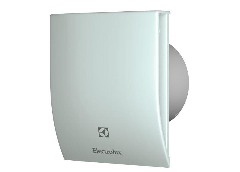 Вентилятор Electrolux EAFM-100Вытяжки для ванной<br>EAFM-100   это бытовой вытяжной вентилятор от торговой марки Electrolux. Универсальный белый цвет панели, который можно поменять при необходимости с помощью съемной панели.  При ежедневном и практически непрерывном использовании оборудовании появилась возможность уменьшить потребление электроэнергии за счет специального вентилятора и синему индикатору, который фиксирует работу и отключение модели. Исходный материал для техники используется высококачественный и максимально прочный пластик.<br>Сменные панели (опционально): стальной, голубой, красный.<br>Особенности и преимущества бытовых вытяжных вентиляторов серии MAGIC EAF от компании Electrolux:<br><br>Эксклюзивный внешний дизайн передней пластиковой панели.<br>Регулируемый таймер задержки отключения от 1 до 20 минут (модели с маркировкой Т).<br>Датчик влажности (модели с маркировкой Н).<br>Брызгозащитное исполнение.<br>Корректирование диапазона осуществляется от 40% до 100%.<br>Синий индикатор функционирования и отключения.<br>Малошумный электромотор с крыльчаткой.<br>Высокоэффективная и бесшумная полноценная работа.<br>Универсальная конструкция и установка.<br>Предусмотрен обратный клапан.<br>Гарантированная электробезопасность в эксплуатации.<br>Экономный расход энергии.<br>Легкосъемные передние панели разных цветов: красная, голубая, нержавеющая сталь.<br>Процесс монтажа максимально универсален (на стене, в отверстии вентиляционной шахты, в подвесном потолке).<br>Быстрая и легкая очистка от пыли.<br><br>Компания Electrolux производит вытяжки для ванной комнаты серии MAGIC EAF со специально разработанным дизайном, который выгодно выделяет оборудование среди своих конкурентов, как с технической стороны, так и внешне. Исходный материал высокого качества, а сборка имеет максимальную точность стыков, что полностью исключает вариант вибрации и образования высокого уровня шума в процессе эксплуатации. Продуманная конструкция позволяет произвести быструю очистку прибо