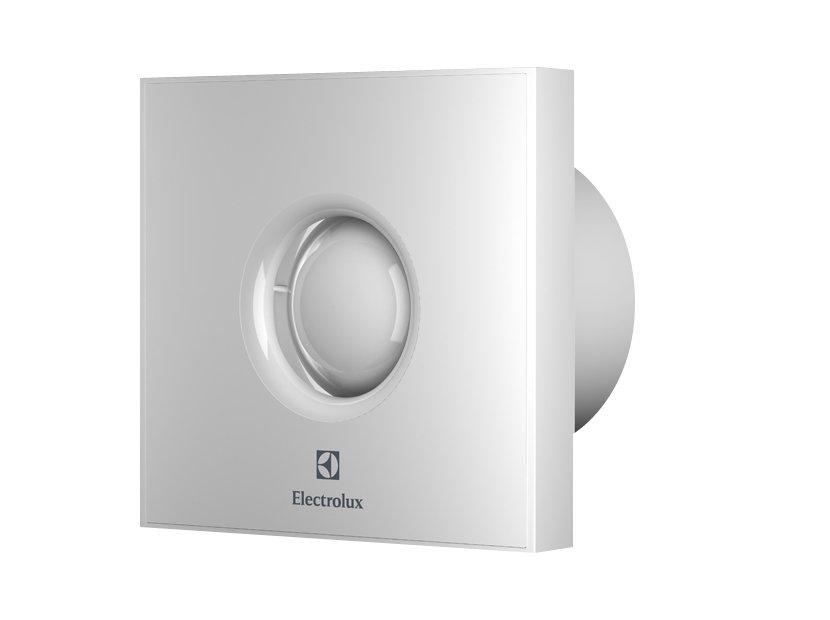 Вентилятор Electrolux EAFR-100THВытяжки для ванной<br>EAFR-100TH от производителя Electrolux   высокоэффективный бытовой вытяжной вентилятор, предназначенный для удаления загрязненного воздуха из помещения. Внутренний механизм устройства имеет особую уникальную конструкцию, разработанную Electrolux, благодаря которой вентилятор работает на полную мощность, при этом экономя электроэнергию и не производя раздражающего шума.<br>Доступные цвета: белый, стальной, зеркальный, зеленый, серый, серебристый, черный, синий, красный, бежевый.<br>Особенности и преимущества бытовых вытяжных вентиляторов серии Rainbow EAFR от компании Electrolux:<br><br>Яркое цветовое решение гармонично впишется в ваш интерьер.<br>Изготавливаются из высококачественного АБС-пластика.<br>Оборудованы надежными двигателями с подшипниками качения, высокоэффективной крыльчаткой и снабжены плавкими предохранителями.<br>Брызгозащищенное исполнение (степень защиты IPХ4) делает вентиляторы пригодными для работы в помещениях с повышенной влажностью.<br>Обратные клапаны обеспечивают защиту от обратной тяги из вентиляционной шахты при выключенном вентиляторе, и защищает от сквозняков.<br>Датчики влажности с регулируемым от 40% до 100% диапазоном влажности и регулируемым от 1 до 20 минут таймером задержки отключения.<br><br>Компания Electrolux разработала линейку вытяжек для ванной комнаты, которые помогут вам избавиться от излишней влаги путем удаления воздуха по специальным воздуховодным каналам. Представлено семейство несколькими моделями, которые отличаются не только мощностью, но и цветовыми решениями, что дает покупателям возможность подобрать вентилятор максимально подходящую к интерьеру. Агрегаты отличаются повышенным сроком службы, что было достигнуто за счет оснащения двигателя подшипниками вращения. Также имеется защита от обратной тяги в виде обратного клапана. Поставляются вытяжные вентиляторы для ванной комнаты уже готовыми к подключению, пользователю останется только доверить установку прибора пр