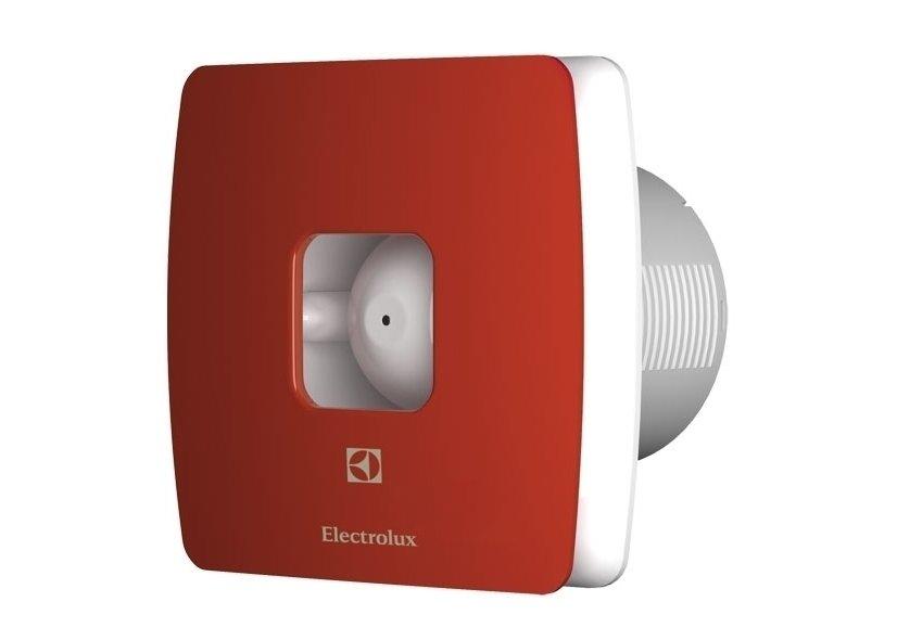 Вентилятор Electrolux EAF-100Вытяжки для ванной<br>Бытовая вытяжка для ванной комнаты EAF-100 от известного шведского бренда Electrolux оснащена максимально упрощенным управлением с помощью выключателя. Основная задача - устранять загрязненный воздух из обслуживаемого помещения. Лицевая панель и разработанные съемные разноцветные лицевые панели сделаны из очень прочного и высококачественного пластика.<br>Сменные панели (опционально): стальной, голубой, красный.<br>Особенности и преимущества бытовых вытяжных вентиляторов серии MAGIC EAF от компании Electrolux:<br><br>Эксклюзивный внешний дизайн передней пластиковой панели.<br>Брызгозащитное исполнение.<br>Корректирование диапазона осуществляется от 40% до 100%.<br>Синий индикатор функционирования и отключения.<br>Малошумный электромотор с крыльчаткой.<br>Высокоэффективная и бесшумная полноценная работа.<br>Универсальная конструкция и установка.<br>Предусмотрен обратный клапан.<br>Гарантированная электробезопасность в эксплуатации.<br>Экономный расход энергии.<br>Легкосъемные передние панели разных цветов: красная, голубая, нержавеющая сталь.<br>Процесс монтажа максимально универсален (на стене, в отверстии вентиляционной шахты, в подвесном потолке).<br>Быстрая и легкая очистка от пыли.<br><br>Компания Electrolux производит вытяжки для ванной комнаты серии MAGIC EAF со специально разработанным дизайном, который выгодно выделяет оборудование среди своих конкурентов, как с технической стороны, так и внешне. Исходный материал высокого качества, а сборка имеет максимальную точность стыков, что полностью исключает вариант вибрации и образования высокого уровня шума в процессе эксплуатации. Продуманная конструкция позволяет произвести быструю очистку прибора от пыли и грязи. Отличным дизайнерским решение являются цветные легкосъемные передние панели, которые предают определенной изысканности всему интерьеру обслуживающего помещения. Плавные формы и линии продуманы до мельчайших деталей, что позволяет установить бытовую вытя