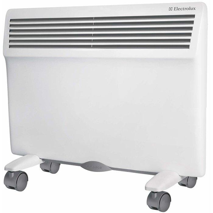 Конвектор электрический Electrolux ECH/AG - 1000 EFR10 м? - 1.0 кВт<br>Конвекторный обогреватель ElectroLux (Электролюкс) ECH/AG - 1000 EFR работает от электричества и представляет собой инновационное устройство, которое не имеет аналогов в мире климатической техники. Производитель предусмотрел уникальную систему очистки воздуха и защиту от перегрева, что увеличивает надежность данного прибора. Конвектор имеет функцию самодиагностики.<br>Особенности и преимущества электрических конвекторов ElectroLux серии Air Gate:<br><br>Аэродинамическая конструкция корпуса<br>Класс защиты прибора IP24<br>Экологичность<br>Удобство использования<br>Надежность и безопасность работы<br>Ресурс работы нагревательного элемента SX-DUOS составляет не менее 25 лет<br>Высокая экономичность<br>Точный термостат<br>Универсальный монтаж<br>Многоступечнатая система очистки возудах:<br><br>Антистатический противопылевой фильтр задерживает пыль крупных и средних размеров благодаря статическому напряжению.<br>Угольный фильтр поглощает неприятные запахи, устраняет запах табачного дыма, очищает воздух от различных химических соединений.<br>Катехиновый фильтр очищает воздух, используя природные растительные компоненты (катехины) для защиты от микробов. Фильтр с катехинами обезвреживает бактерии и вирусы.<br>Nano-silver фильтр имеет так же высокие антибактериальные свойства. Это фильтр с ионами серебра, которые нейтрализуют бактерии или уменьшают их активность, разрушая структуру и задерживая их.<br><br><br><br>Серия Air Gate   электрические конвекторы ElectroLux, отличающиеся инновационным дизайнерским решением и превосходным функционалом. Климатические приборы из данной серии имеют универсальный монтаж, серьезную систему очистки воздуха, защищены от возможного перегрева и позволяют в очень короткий период времени обогреть жилую комнату. Имеют эргономичное исполнение и класс пылевлагозащищенности   IP24.<br><br>Страна: Швеция<br>Производитель: Россия<br>Mощность, Вт: 1000<br>Площадь, м?: 15<br>Класс з