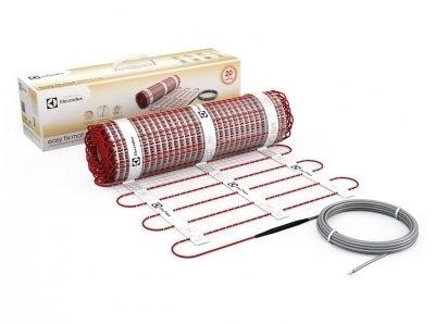 Теплый пол Electrolux EEFM 2-150-5Нагревательные маты<br> <br>Теплый пол на клеевой основе Electrolux EEFM 2-150-5 позволит обеспечить обогрев Вашего пола на полезной площади пять квадратных метров. Отличительной чертой нагревательных матов этого модельного ряда является текстильная основа, пропитанная клейким полимером, которая дает возможность уложить нагреватель на стяжку или бетон идеально ровно, без образования перекосов и вздутий.<br>Благодаря экранированной нагревательной жиле все тепло, выработанное прибором, будет поступать в помещение, доставляя максимум полезного действия от его эксплуатации.<br>Особенности прибора:<br><br>Сверхтонкая нагревательная основа<br>Текстильная основа пропитана специальным клеящим полимером<br>Идеальная адгезия<br>Греющая жила вплетена в текстильную основу<br>Высокая эластичность нагревательного мата<br>Возможность укладки под любое напольное покрытие, включая деревянный пол<br>Экранированный двужильный нагревательный кабель<br>Тройная изоляция греющих жил<br>Повышенная износоустойчивость<br>Устойчивость к перегревам<br>Устойчивость к механическим повреждениям и химическим воздействиям<br>Выдерживает пробивное напряжение до 4000 В<br>Класс защиты IPX7<br><br> Нагревательные маты серии EASY FIX MAT изготовлены на основе новейших технологических разработок с учетом повышенных требований как к прочности и надежности продукции, так и к ее потребительским характеристикам.<br>Клеящаяся текстильная основа нагревательных матов этого модельного ряда изготовлена из специальной ткани, пропитанной клеящим полимером. Это позволяет достичь идеальной адгезии с бетоном, стяжкой или плиточным клеем, исключить образование полостей и пузырьков воздуха, сделав пол единым прочным теплым монолитом.<br>Эффект армирования пола   также преимущество текстильной основы   благодаря такому мату Ваш пол будет прочнее, в бетоне и стяжке не будут образовываться трещины.<br>Высокая эластичность основы и греющей жилы обеспечивают максимально точное распределение