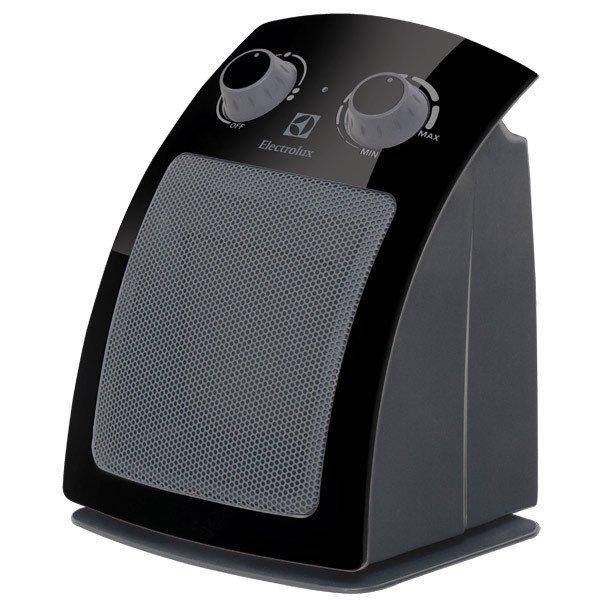 Керамический тепловентилятор Electrolux EFH/C-5115 blackБытовые<br>Современный тепловентилятор ElectroLux (Электролюкс) EFH/C-5115 black имеет не только элегантное дизайнерское оформление, но и специальную, аэродинамическую форму корпуса, которая позволяет лучше и быстрее распределять теплый воздушный поток по помещению. Управление обогревателем очень простое, а эргономические особенности, которые учел производитель, делают его еще более приятным.<br><br><br><br><br>Особенности и преимущества тепловентилятора Electrolux представленной модели:<br><br>Три режима работы<br>Два режима мощности обогрева: полный режим и режим половинной мощности<br>Встроенный термостат<br>Высоконадежный нагревательный элемент обеспечивает мгновенный нагрев помещения<br>Датчик защиты от перегрева<br>Керамический нагревательный элемент   не сушит воздух<br>Инновационный дизайн<br>Экологичность - При производстве использовались экологически чистые и безопасные материалы<br>Надежность и высокое качество - Выполнен из ударопрочного и термостойкого пластика.<br>Удобство управления - Эргономичное управление всеми функциями тепловентилятора<br>Компактные габариты<br>Европейский стандарт безопасности<br>Бесшумный механизм работы за счет усовершенствованной конструкции тепловентилятора<br><br><br><br> <br><br><br><br>Режимы работы:<br><br>Режим  Вентиляция  - обдув помещения без функции обогрева<br>Режим подачи теплого воздуха   мощность обогрева 850Вт<br>Режим подачи горячего воздуха   мощность обогрева 1500Вт<br><br> <br><br><br><br><br>Семейство тепловентиляторов от компании Electrolux   это современные отопительные агрегаты, которые можно охарактеризовать высокой эффективностью работы, удобным простым управлением, совершенно безопасной эксплуатацией и эргономичным, неизменно стильным дизайном. Эти компактные приборы  подогретый воздух равномерно распределяют по всему объему помещения, создавая комфортные микроклиматические условия в домах и квартирах, офисах  магазинах. Также стоит отметить, чт