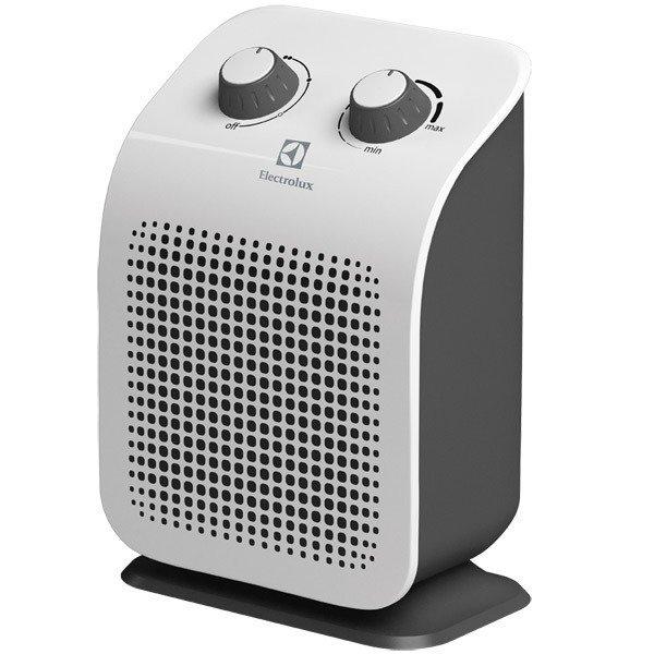 Керамический тепловентилятор Electrolux EFH/S-1120Бытовые<br>Инновационный тепловентилятор ElectroLux (Электролюкс) EFH/S-1120 является современным прибором, выполненным в соответствии со всеми требованиями эргономики, который предназначен для обогрева помещений любого назначения. Устройство имеет безупречные внешние данные и представляет собой уникальную конструкцию, созданную из экологичных и безопасных материалов.<br><br><br><br><br>Особенности и преимущества тепловентилятора Electrolux представленной модели:<br><br>Три режима работы<br>Два режима мощности обогрева: полный режим и режим половинной мощности<br>Встроенный термостат<br>Высоконадежный нагревательный элемент обеспечивает мгновенный нагрев помещения<br>Датчик защиты от перегрева<br>Инновационный дизайн<br>Экологичность - При производстве использовались экологически чистые и безопасные материалы<br>Надежность и высокое качество - Выполнен из ударопрочного и термостойкого пластика.<br>Удобство управления - Эргономичное управление всеми функциями тепловентилятора<br>Компактные габариты<br>Европейский стандарт безопасности<br>Бесшумный механизм работы за счет усовершенствованной конструкции тепловентилятора<br><br><br><br> <br><br><br><br>Режимы работы:<br><br>Режим  Вентиляция  - обдув помещения без функции обогрева<br>Режим подачи теплого воздуха   мощность обогрева 1000Вт<br>Режим подачи горячего воздуха   мощность обогрева 2000Вт<br><br> <br><br><br><br><br>Семейство тепловентиляторов от компании Electrolux   это современные отопительные агрегаты, которые можно охарактеризовать высокой эффективностью работы, удобным простым управлением, совершенно безопасной эксплуатацией и эргономичным, неизменно стильным дизайном. Эти компактные приборы  подогретый воздух равномерно распределяют по всему объему помещения, создавая комфортные микроклиматические условия в домах и квартирах, офисах  магазинах. Также стоит отметить, что при использовании тепловентиляторов под брендом Electrolux уровень кислорода в обслуж